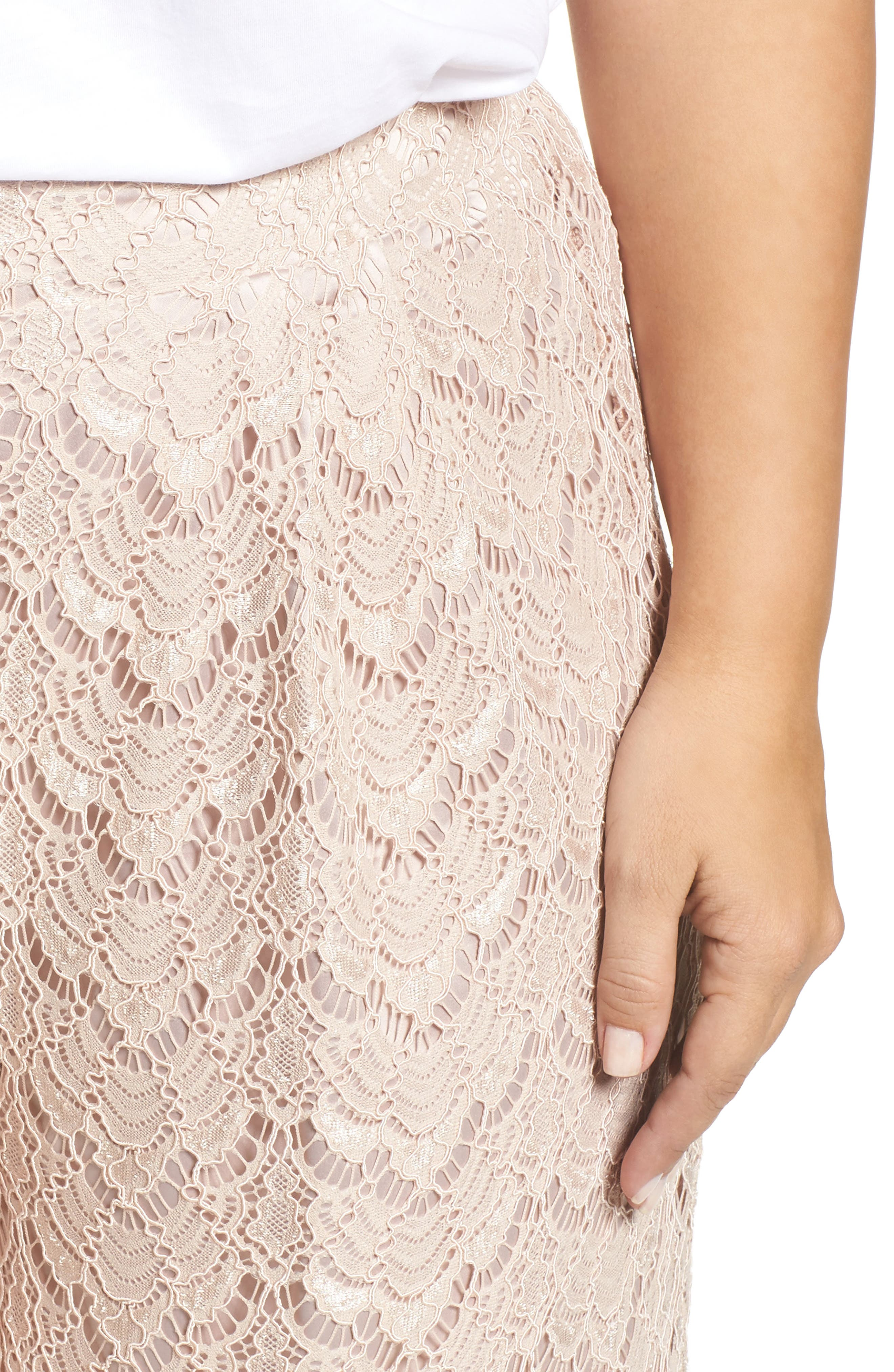 Lace Culottes,                             Alternate thumbnail 4, color,                             Nude