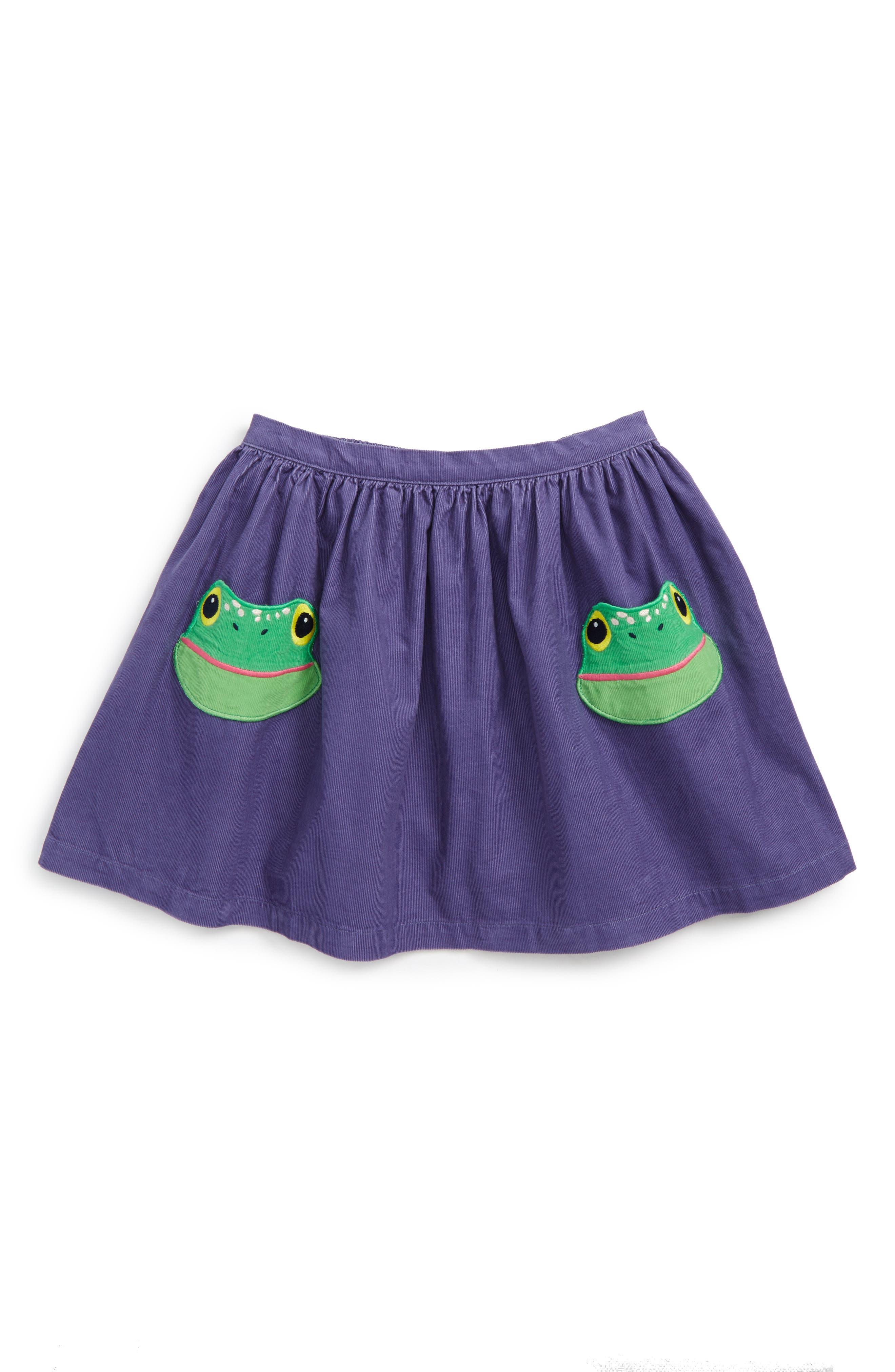 Animal Pocket Corduroy Skirt,                         Main,                         color, Dark Purple