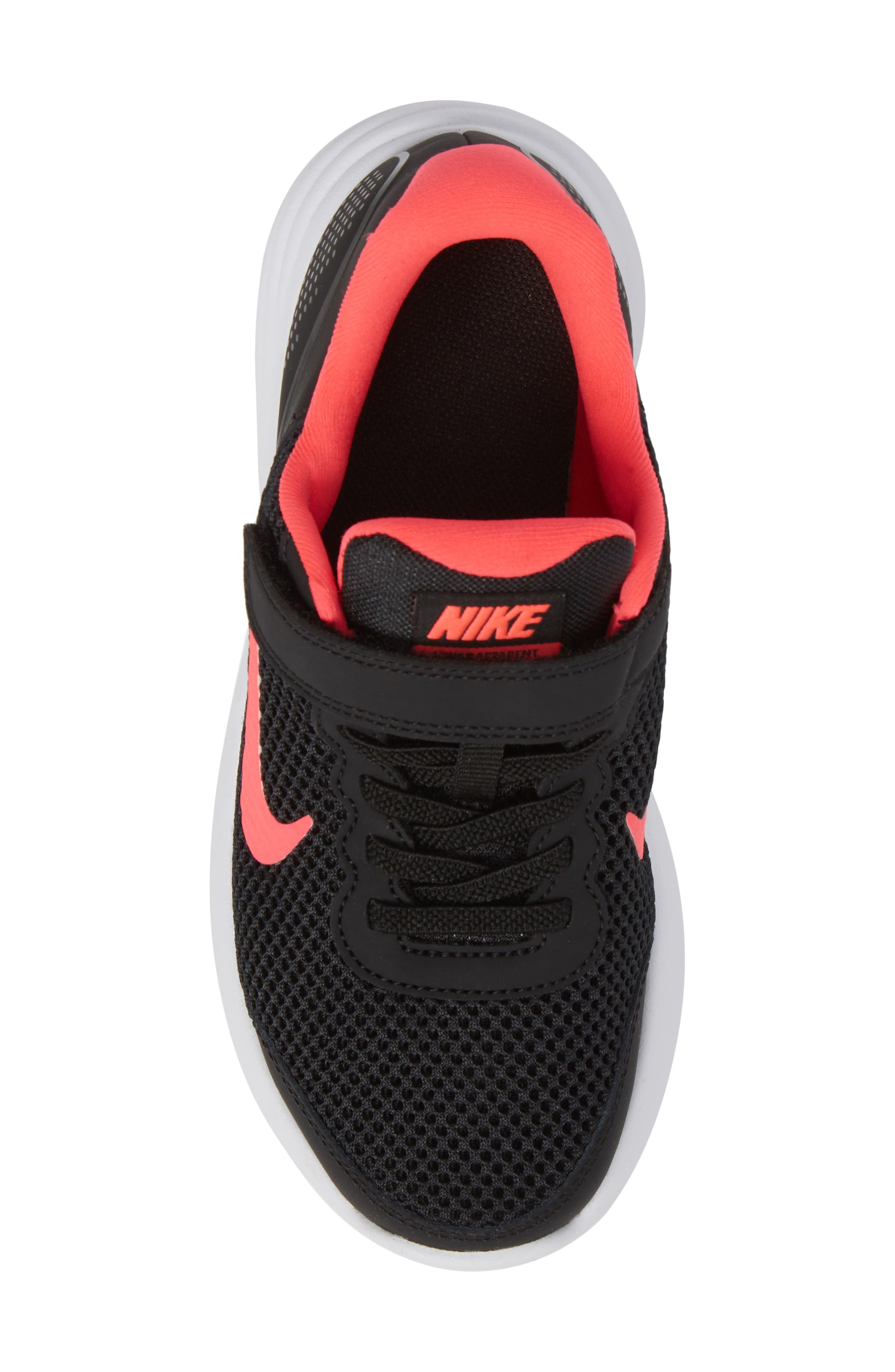 Lunar Apparent Sneaker,                             Alternate thumbnail 5, color,                             Black/ Racer Pink/ White