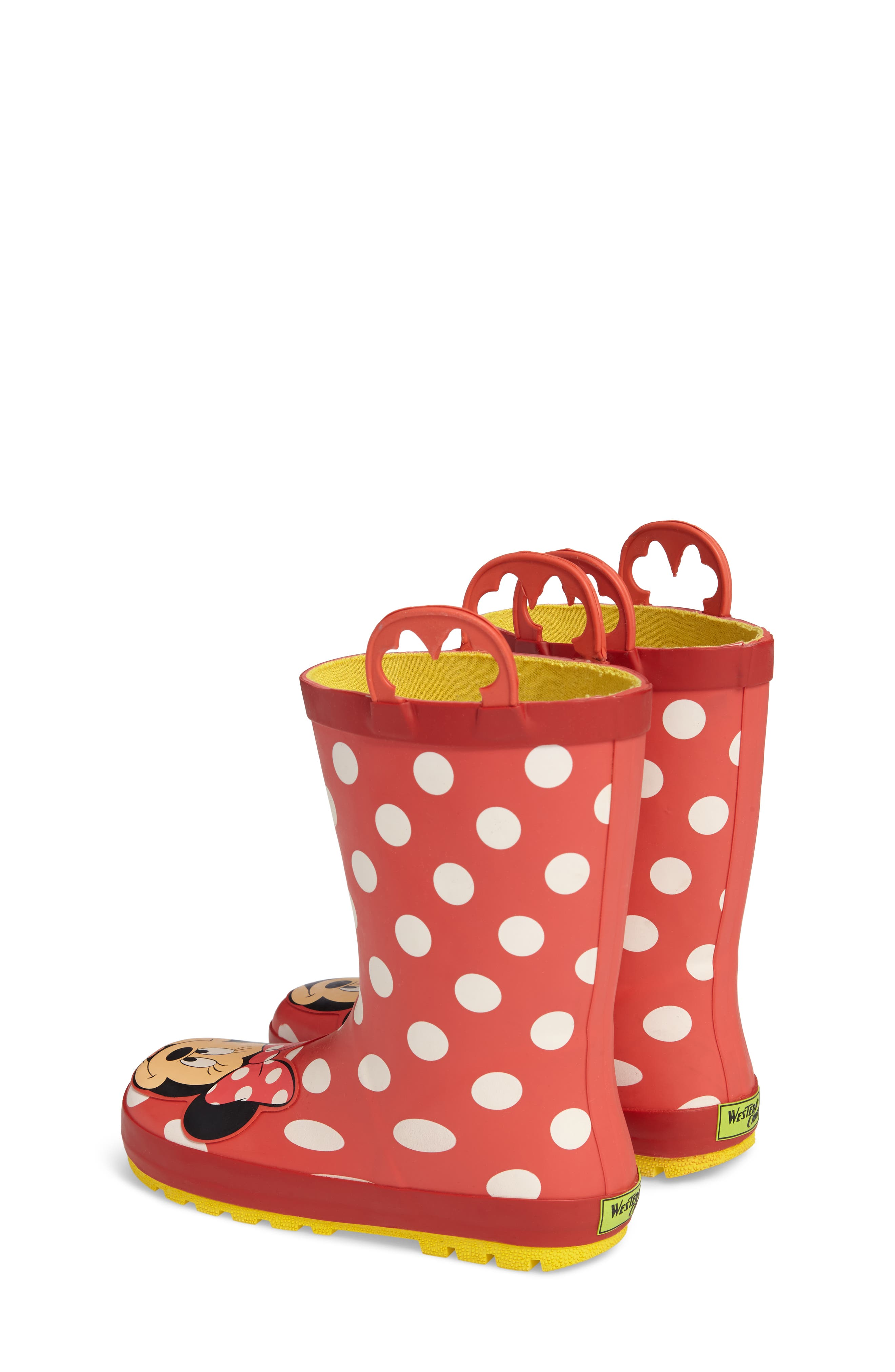 Minnie Mouse Rain Boot,                             Alternate thumbnail 2, color,                             Red