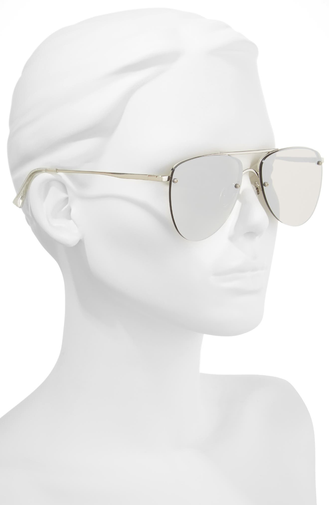 Alternate Image 2  - Le Specs The Prince 57mm Aviator Sunglasses