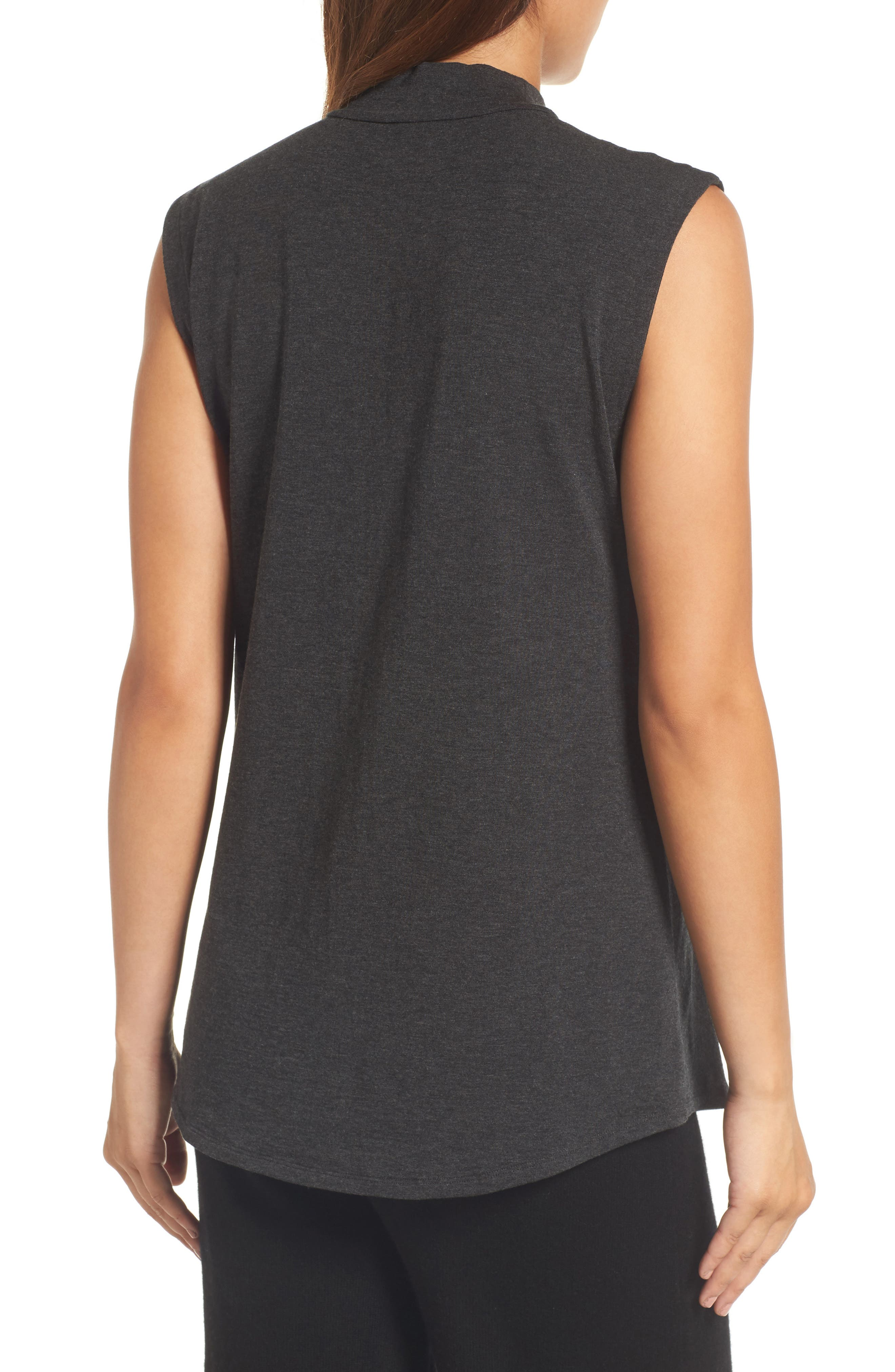 Alternate Image 2  - Eileen Fisher Lightweight Tencel® Lyocell Stretch Jersey Top