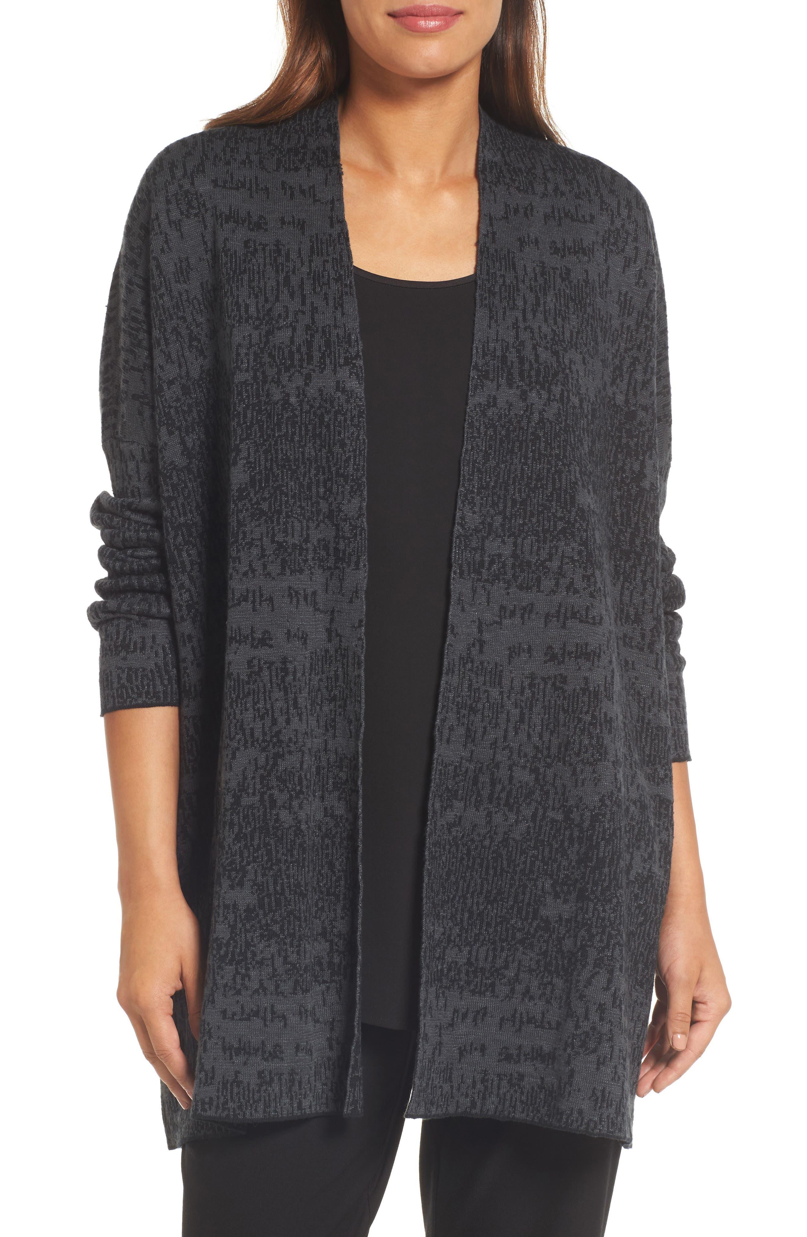 Main Image - Eileen Fisher Organic Linen & Cotton Cardigan