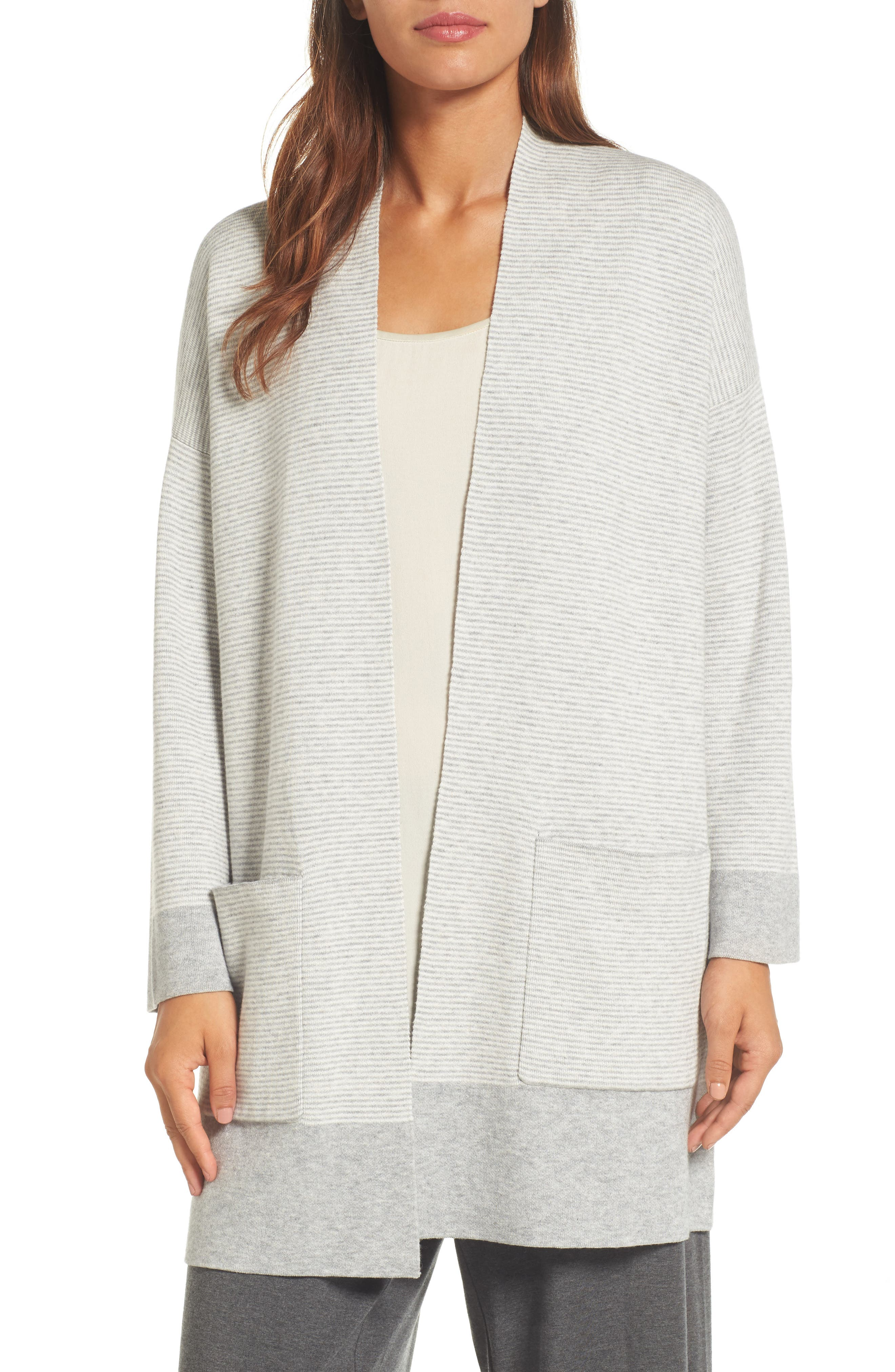 Eileen Fisher Reversible Organic Cotton Blend Cardigan