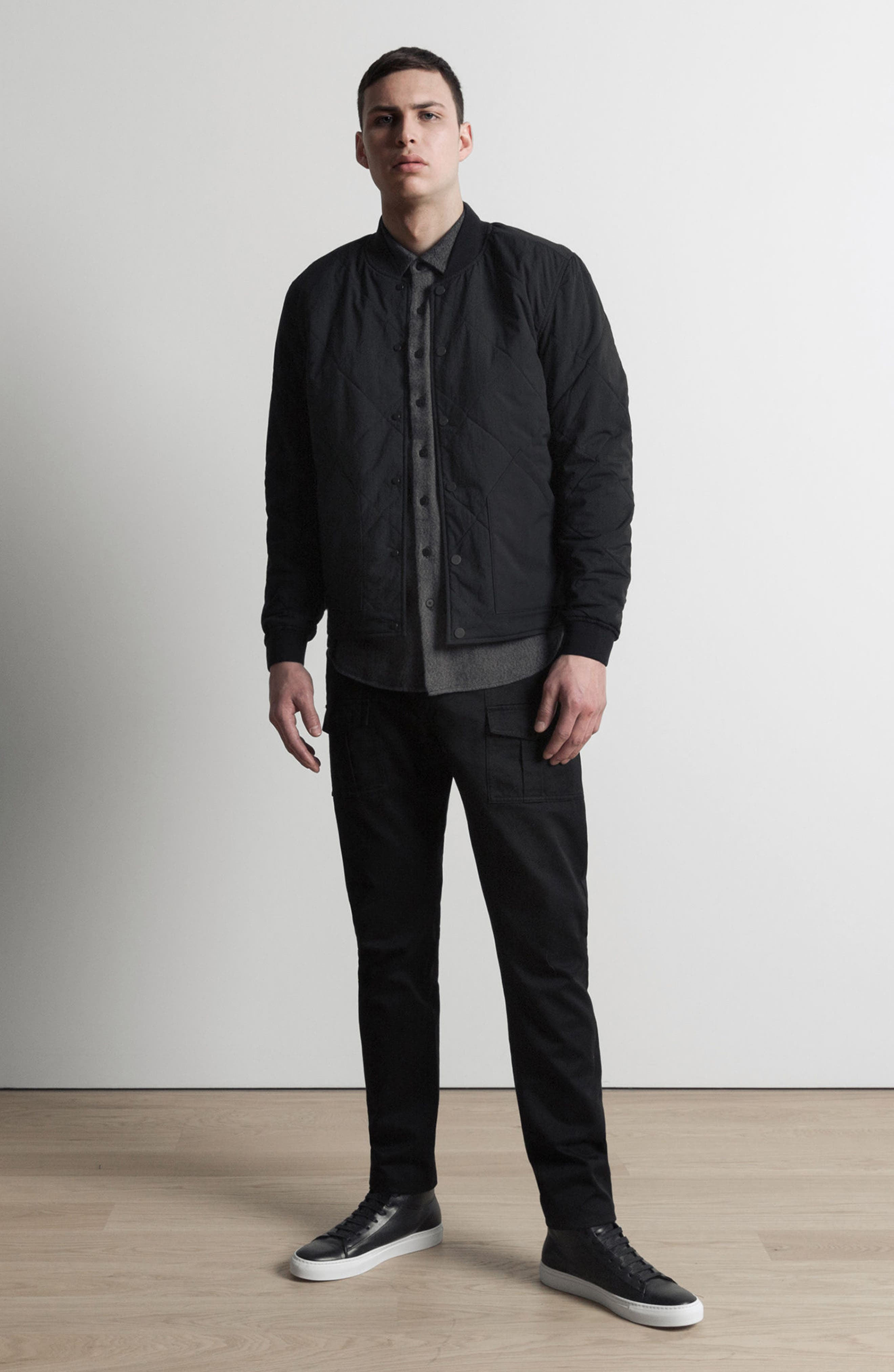 Alternate Image 9  - wings + horns Alpha Quilted Bomber Jacket