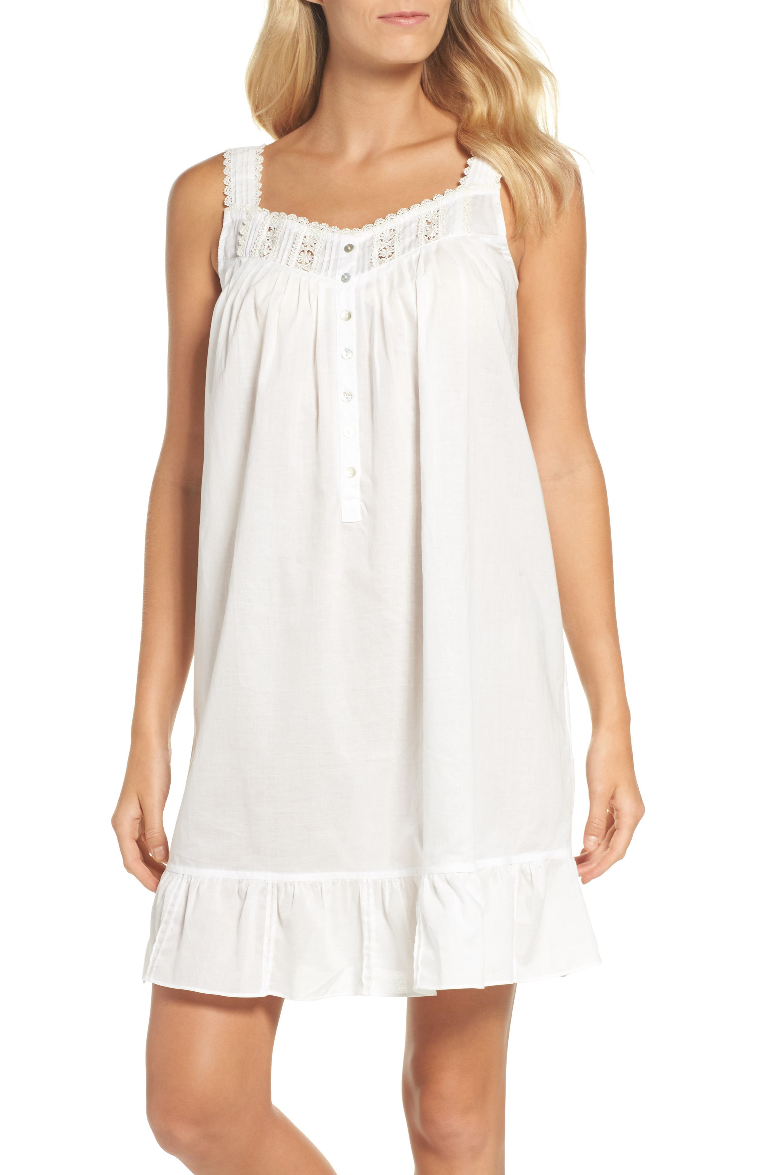 Short Lawn Nightgown,                         Main,                         color, White