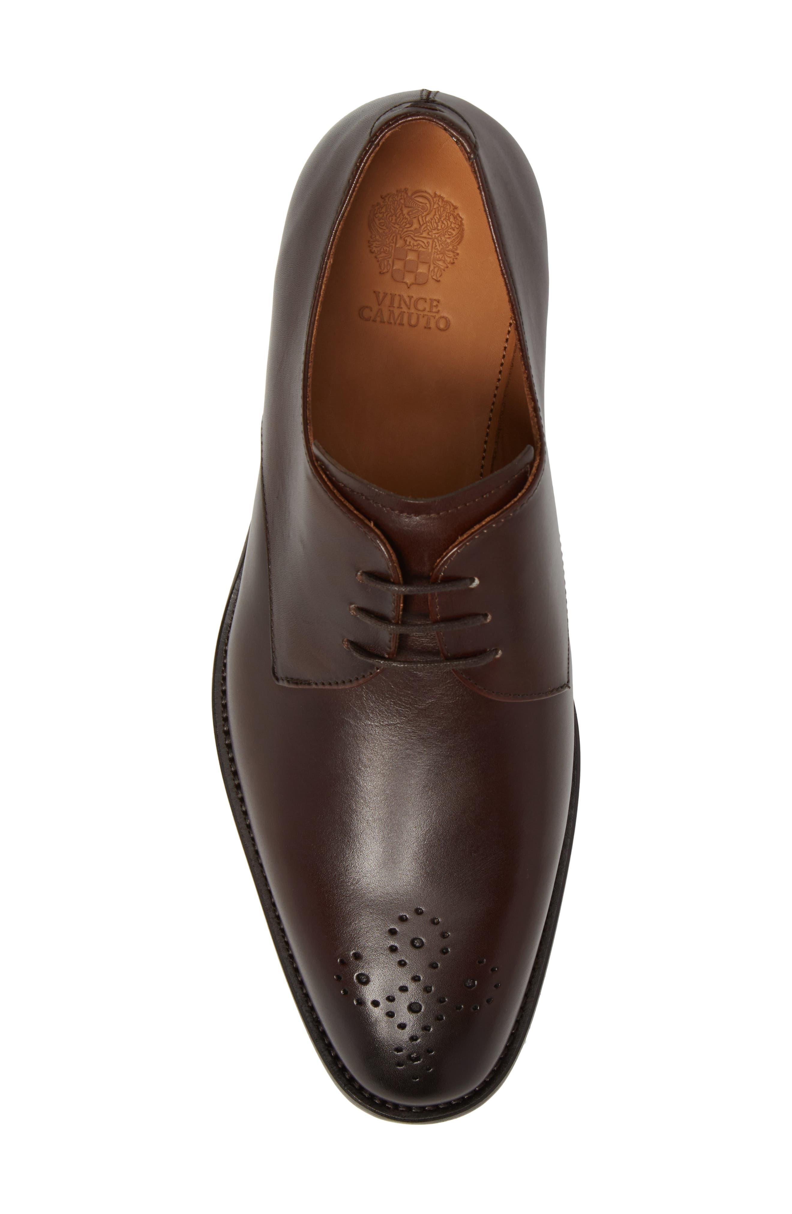 Haltter Medallion Toe Derby,                             Alternate thumbnail 5, color,                             Dark Brown Leather