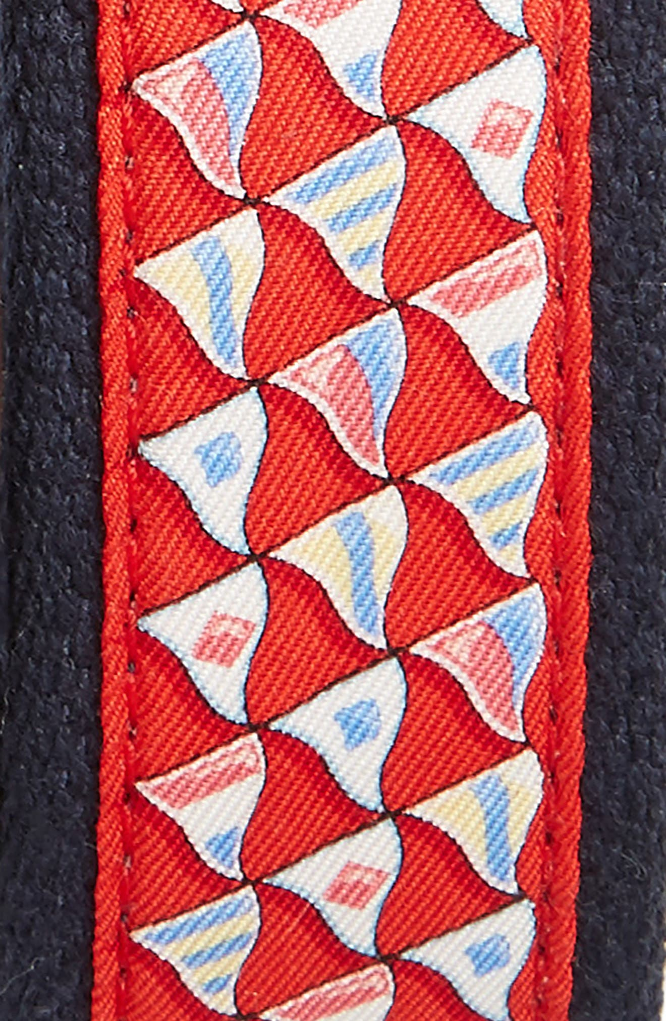 Nautical Flags Canvas Belt,                             Alternate thumbnail 2, color,                             Nautical Red