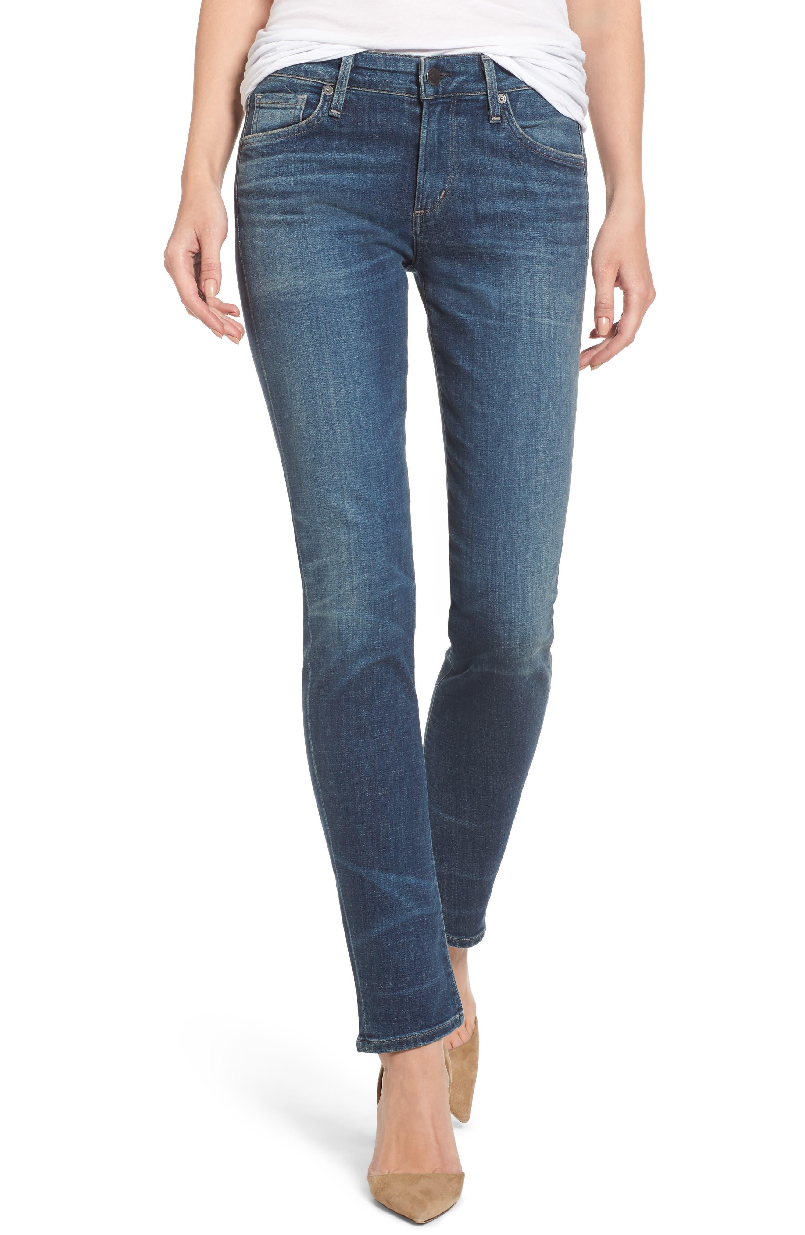 Arielle Slim Jeans,                         Main,                         color, Delfina