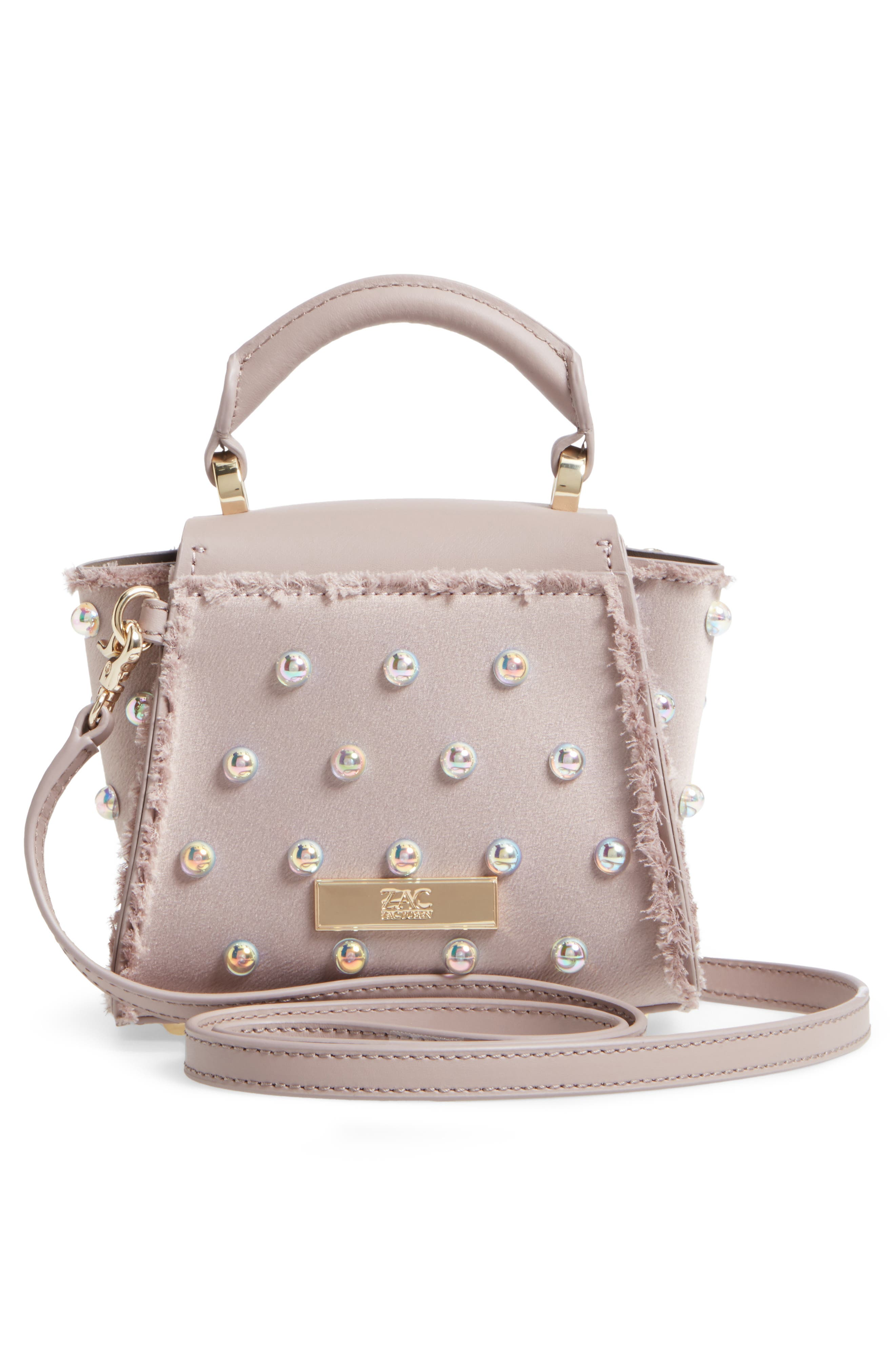 Alternate Image 3  - ZAC Zac Posen Mini Eartha Embellished Top Handle Calfskin Leather Satchel