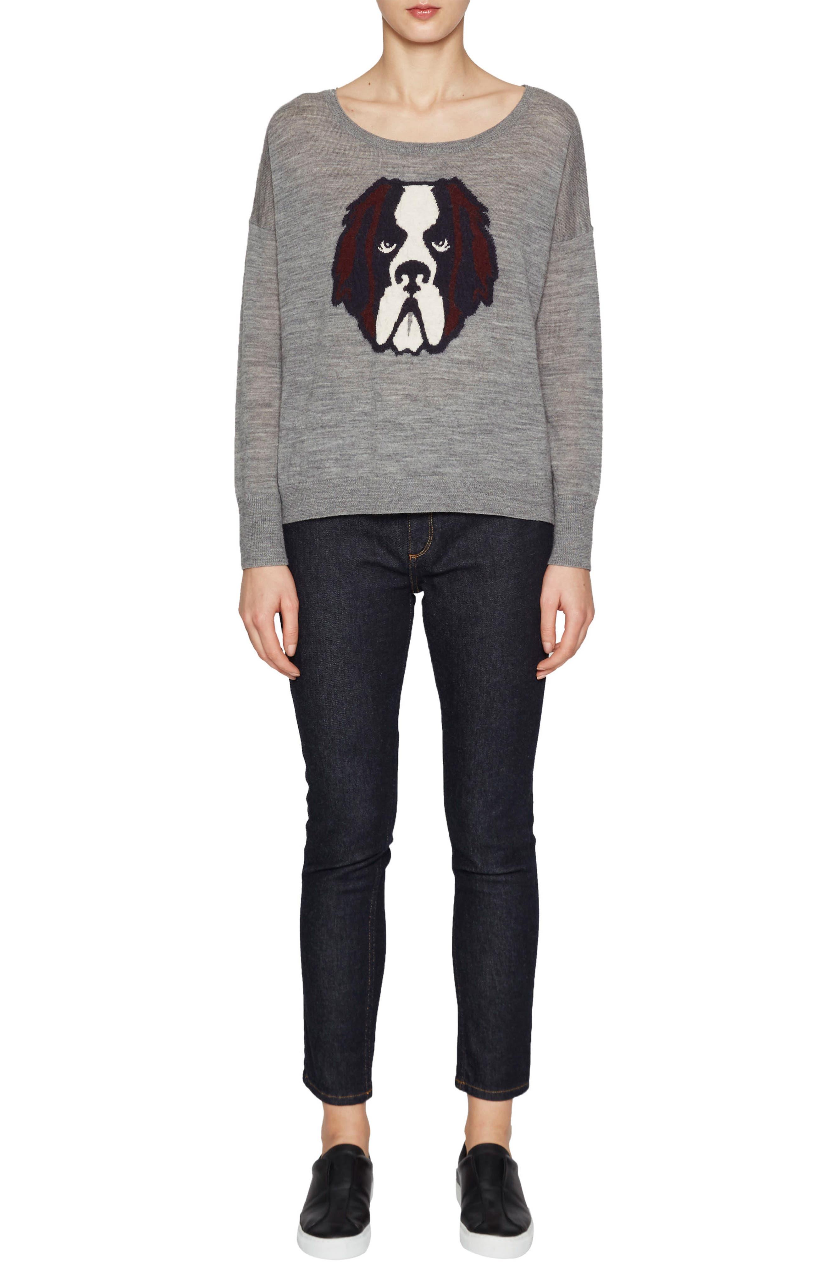 Otis Intarsia Sweater,                             Alternate thumbnail 2, color,                             Mid Grey Multi