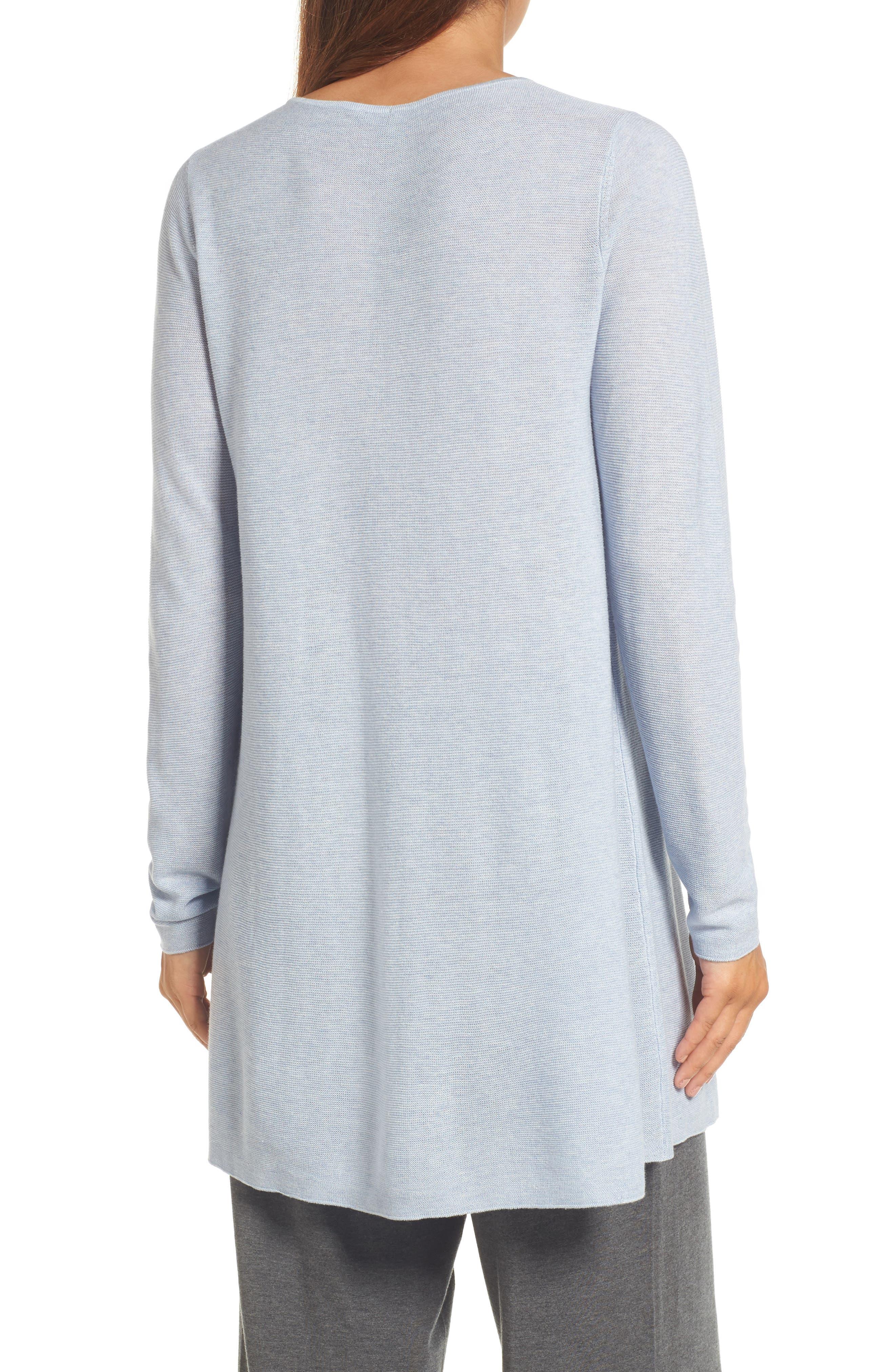 Jewel Neck Tunic Sweater,                             Alternate thumbnail 2, color,                             Delphine