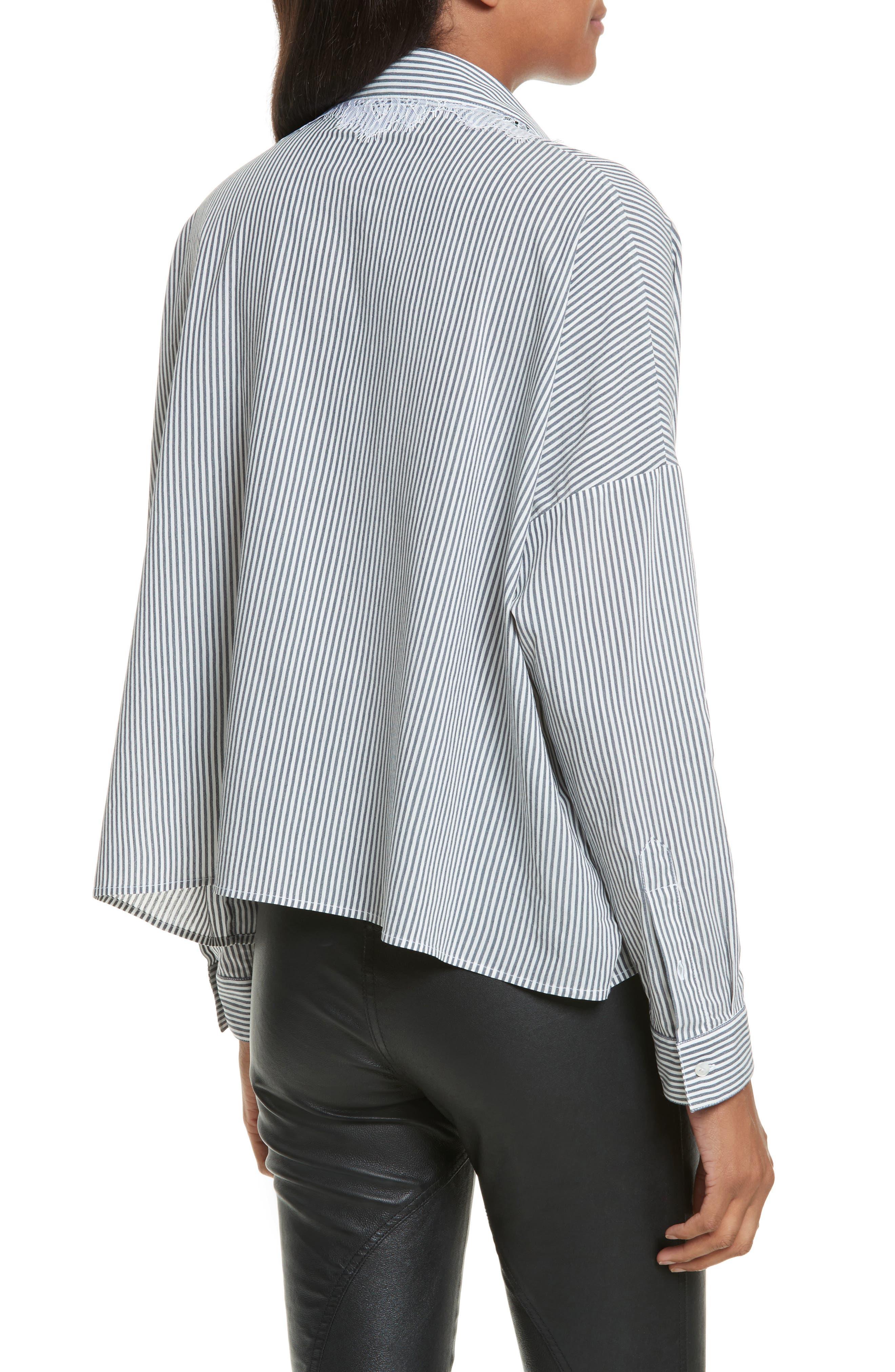 Alternate Image 2  - The Kooples James Lace Trim Stripe Shirt