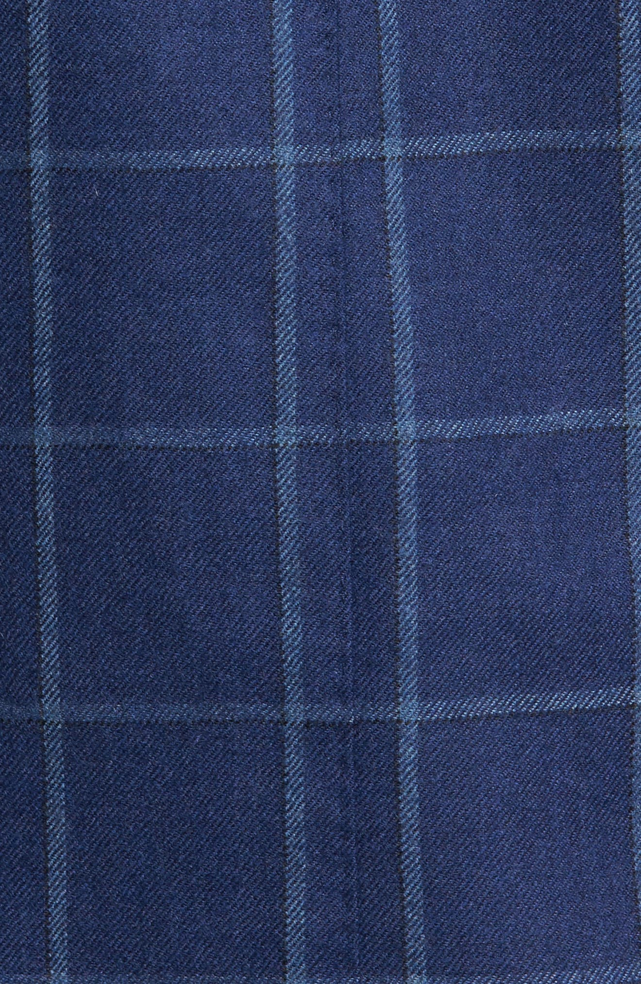 Windowpane Wool Blazer,                             Alternate thumbnail 9, color,                             Navy