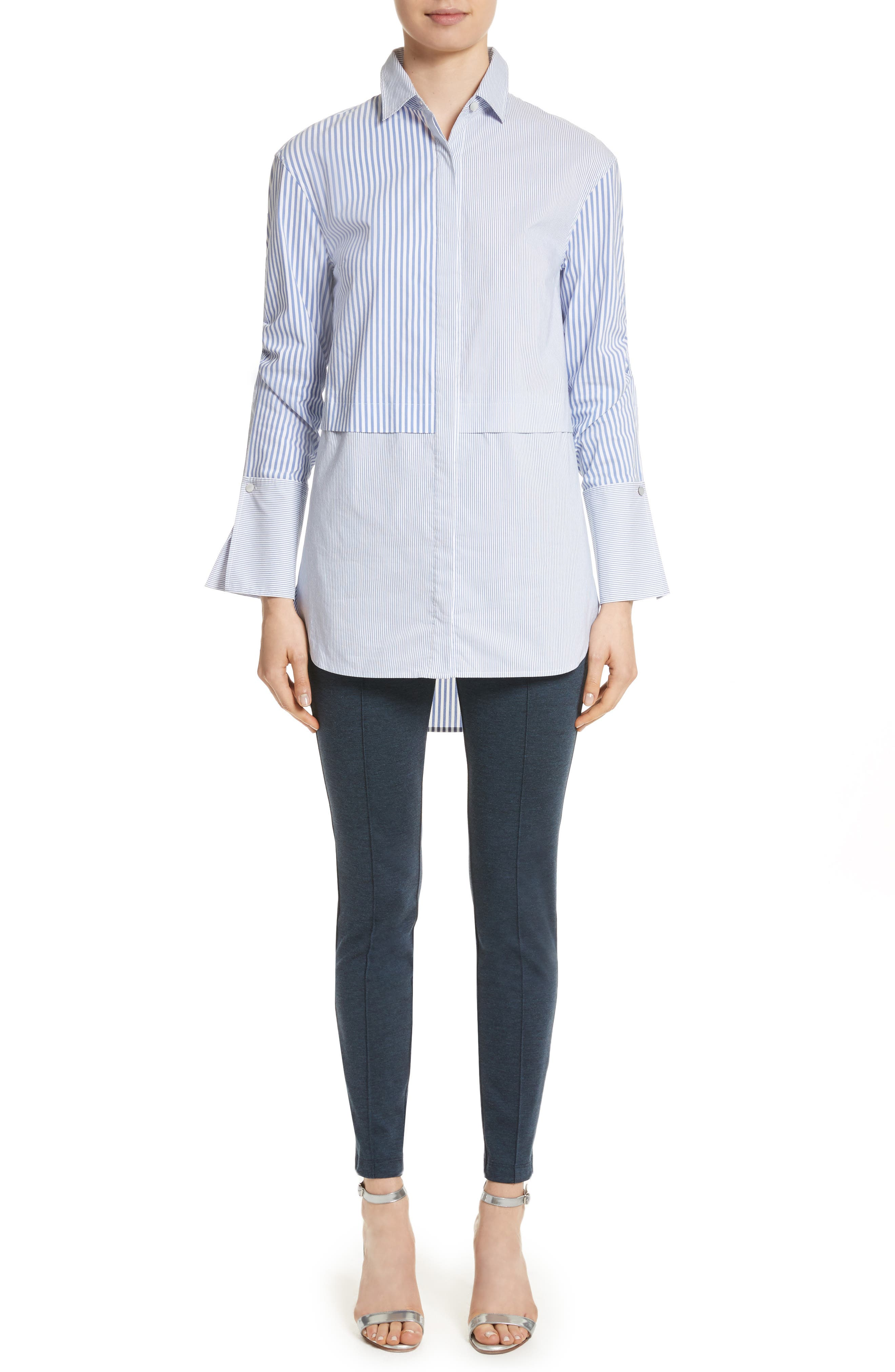 Alternate Image 9  - St. John Collection Striped Shirting Tunic