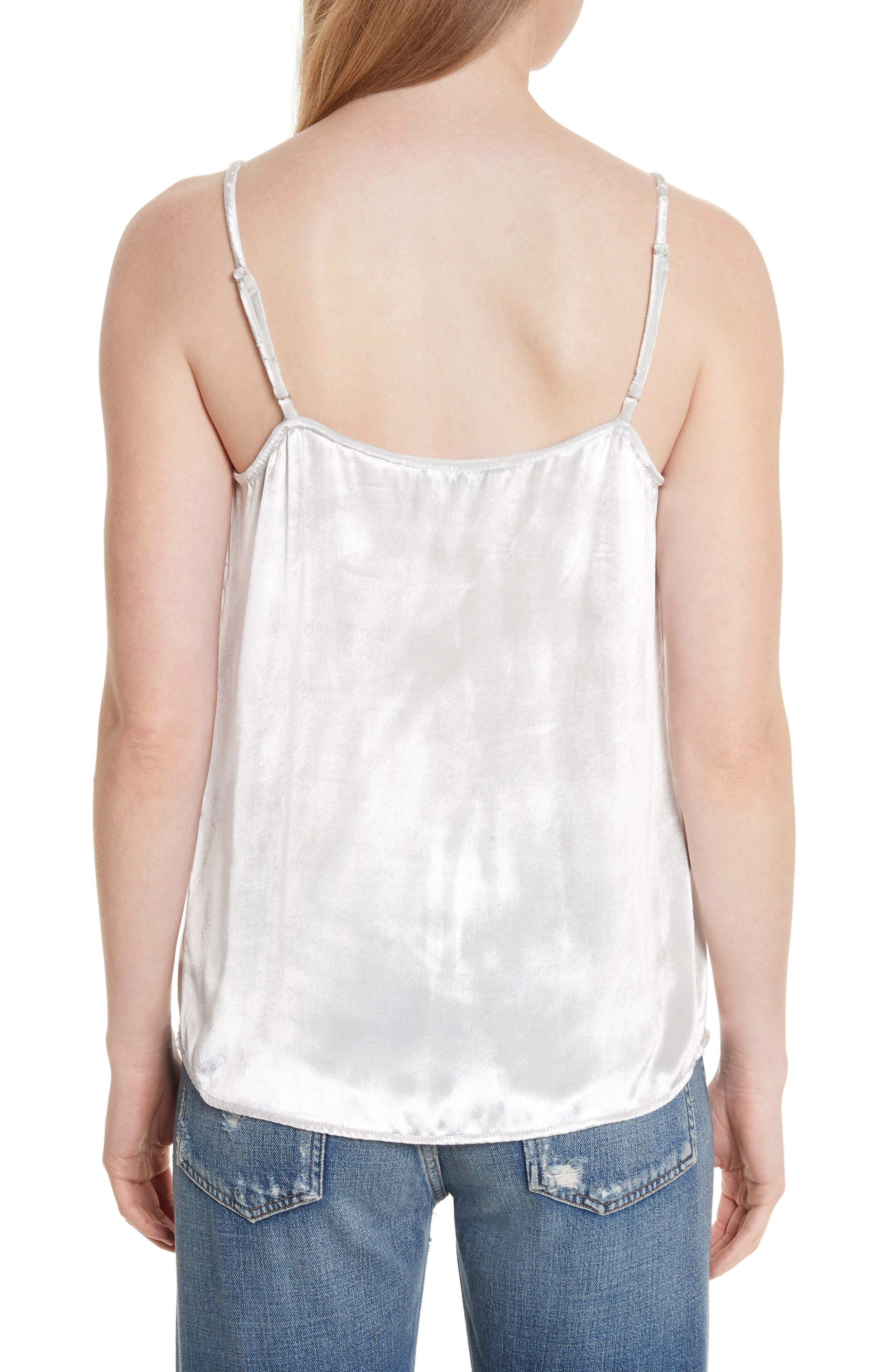 Layla Velvet Camisole,                             Alternate thumbnail 2, color,                             Mineral Grey