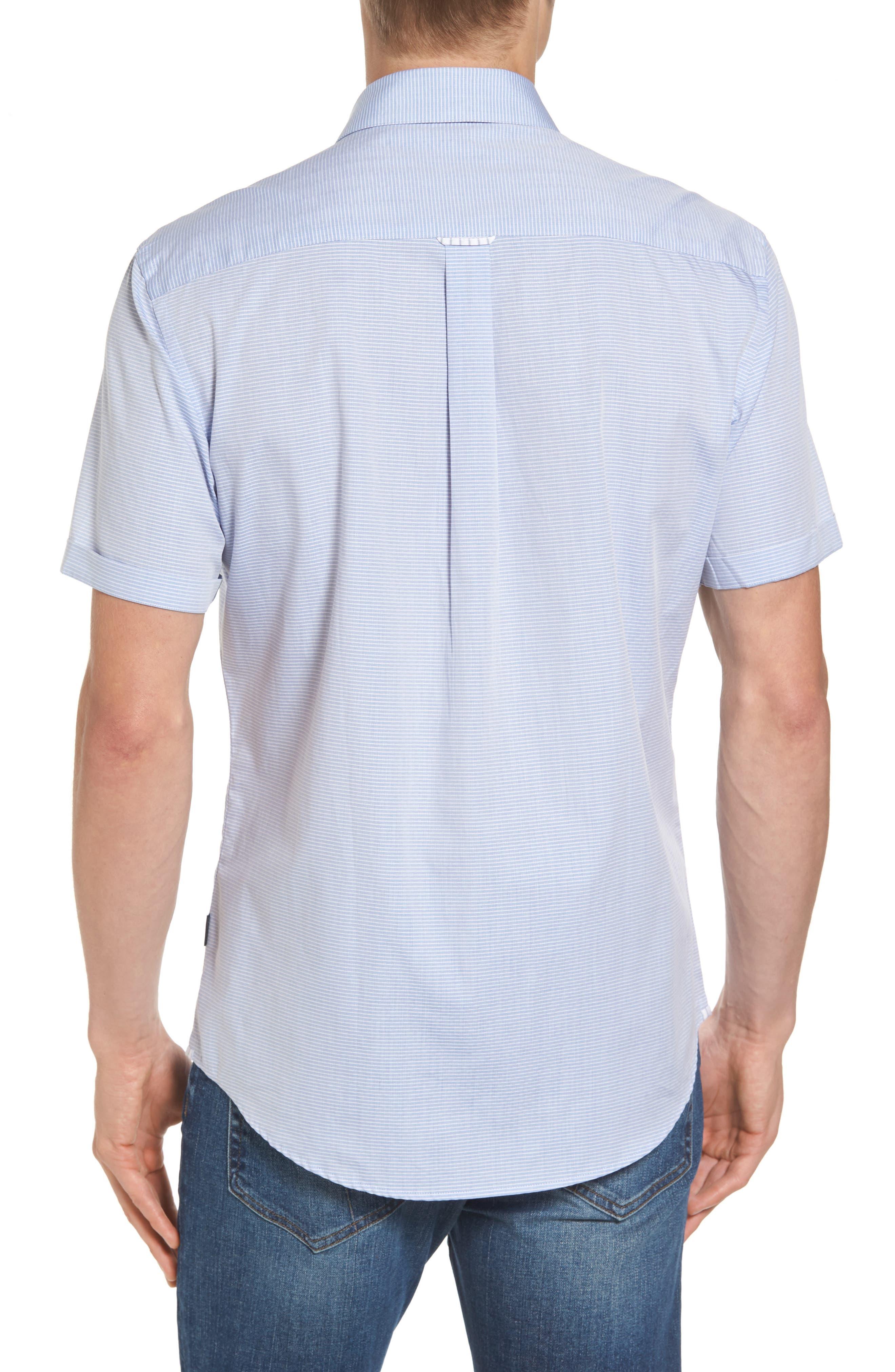 Stripe Woven Shirt,                             Alternate thumbnail 2, color,                             Light Blue