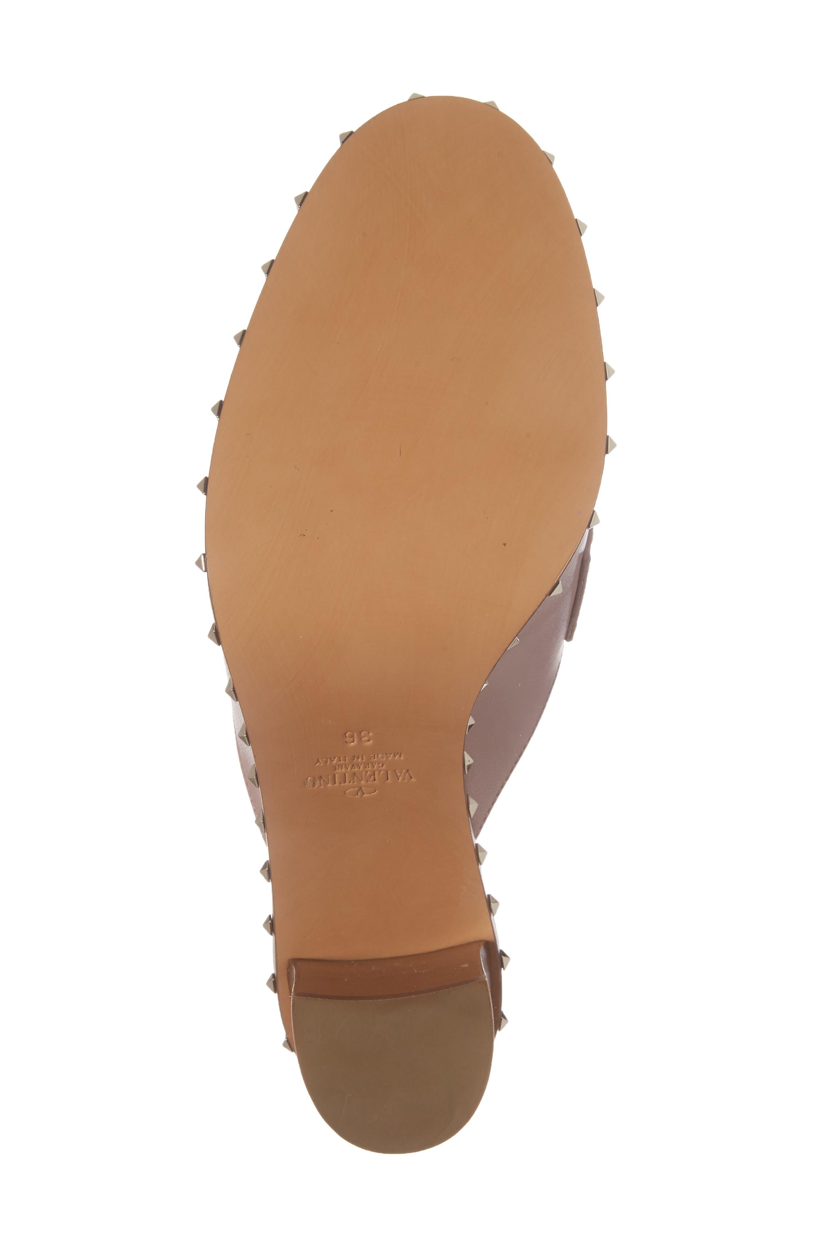 Rockstud Loafer Mule,                             Alternate thumbnail 6, color,                             Pink Leather