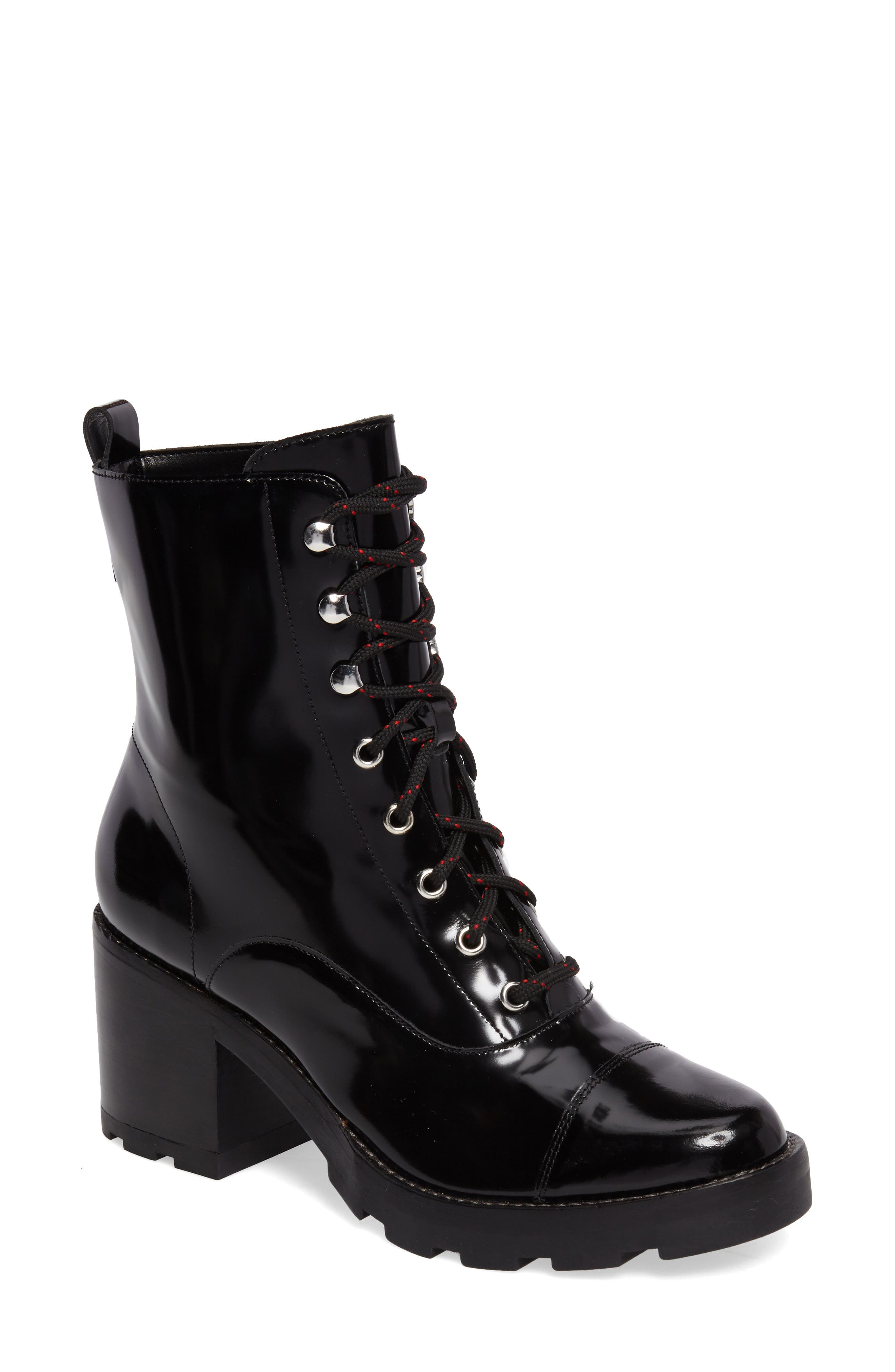 Wanya Boot,                             Main thumbnail 1, color,                             Black Leather
