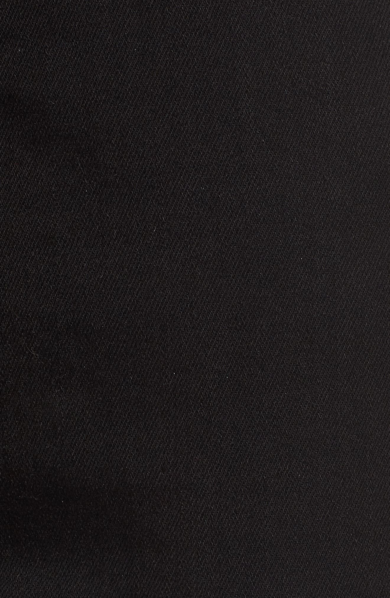 The Super High Waist Stiletto Ankle Skinny Jeans,                             Alternate thumbnail 5, color,                             Jet Black