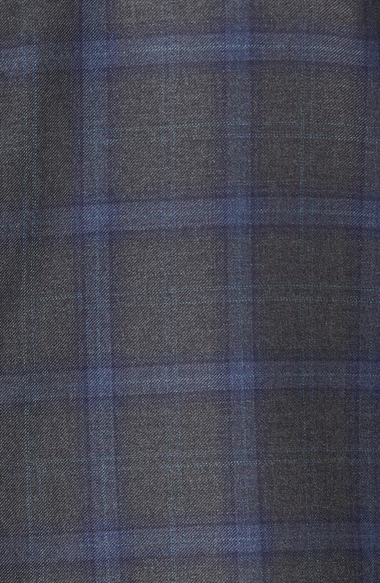 Olsen Classic Trim Fit Blazer,                             Alternate thumbnail 5, color,                             Silver Filigree