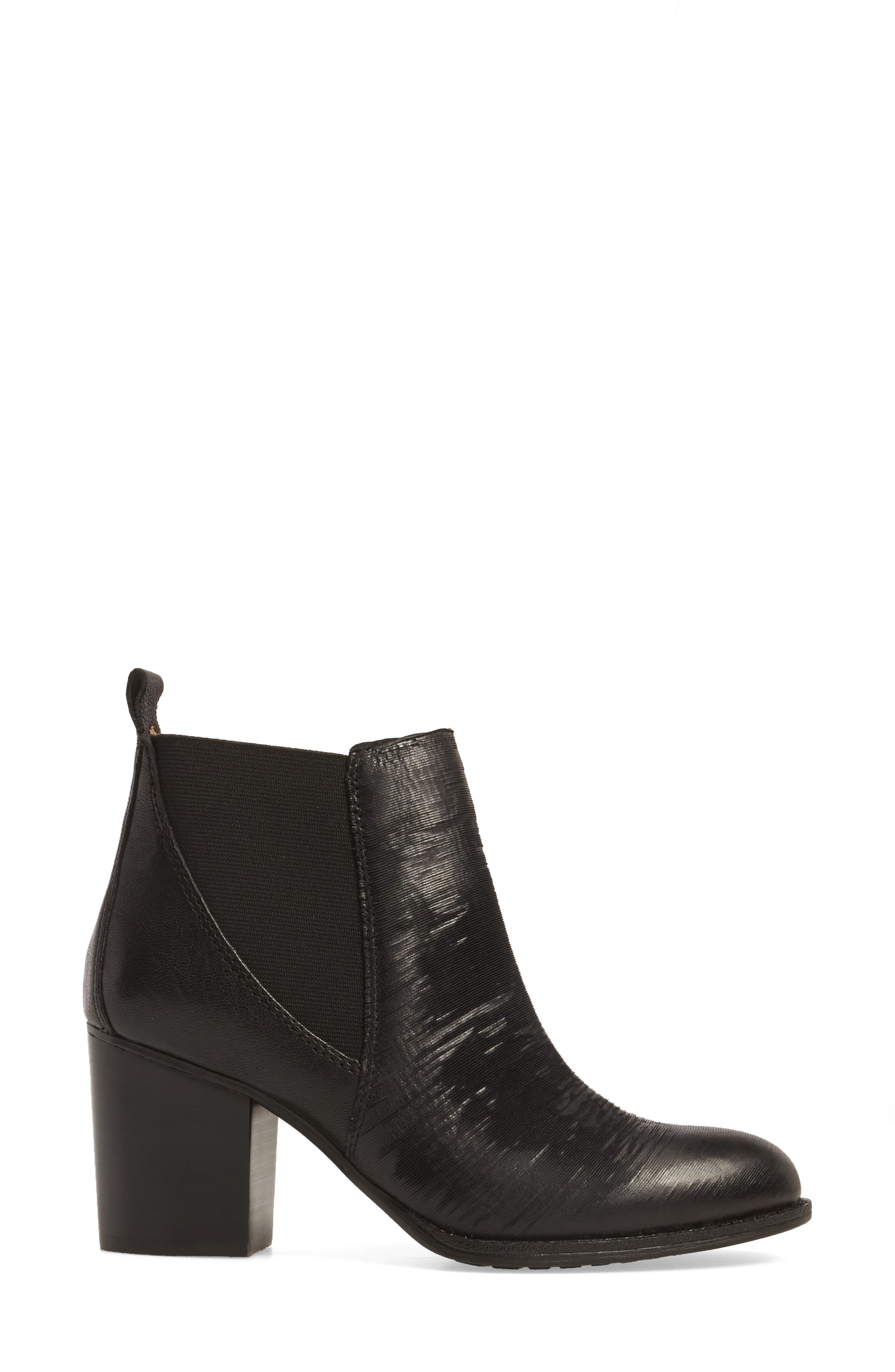 Welling Bootie,                             Alternate thumbnail 3, color,                             Black Leather