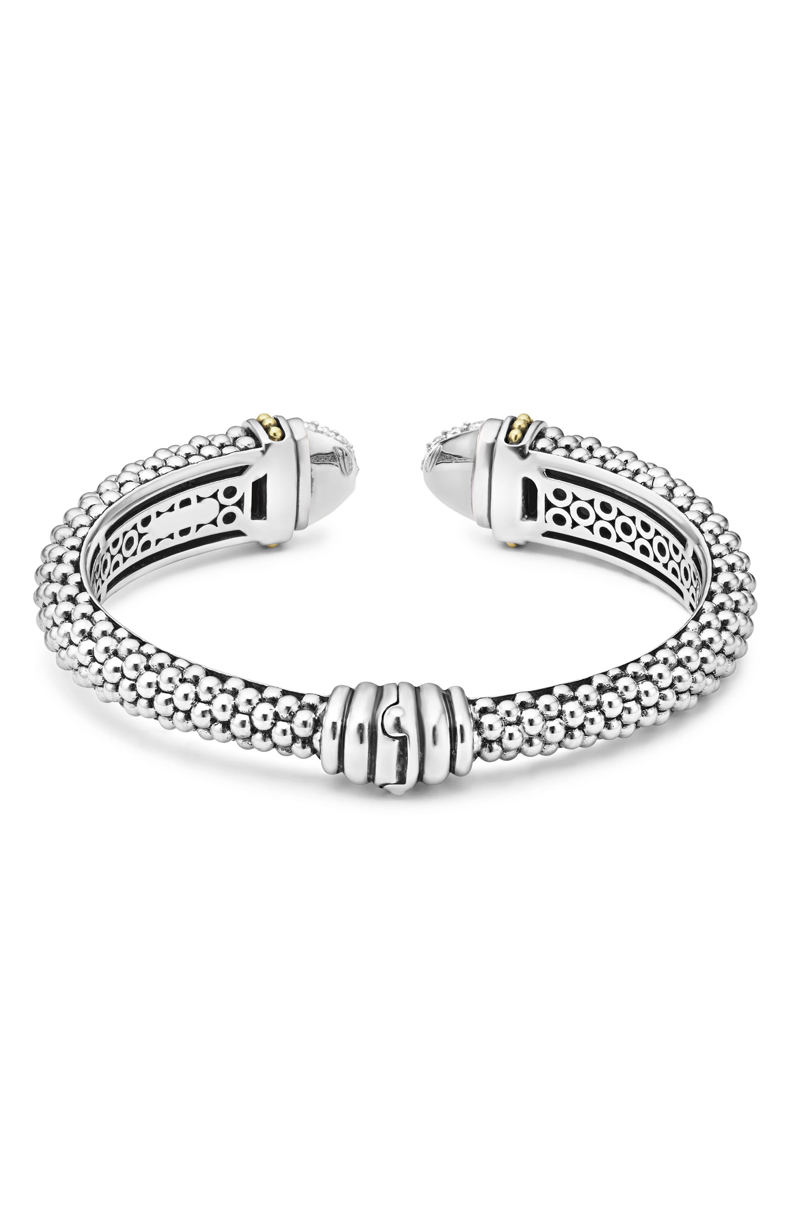 Caviar Diamond Cuff,                             Alternate thumbnail 2, color,                             Silver