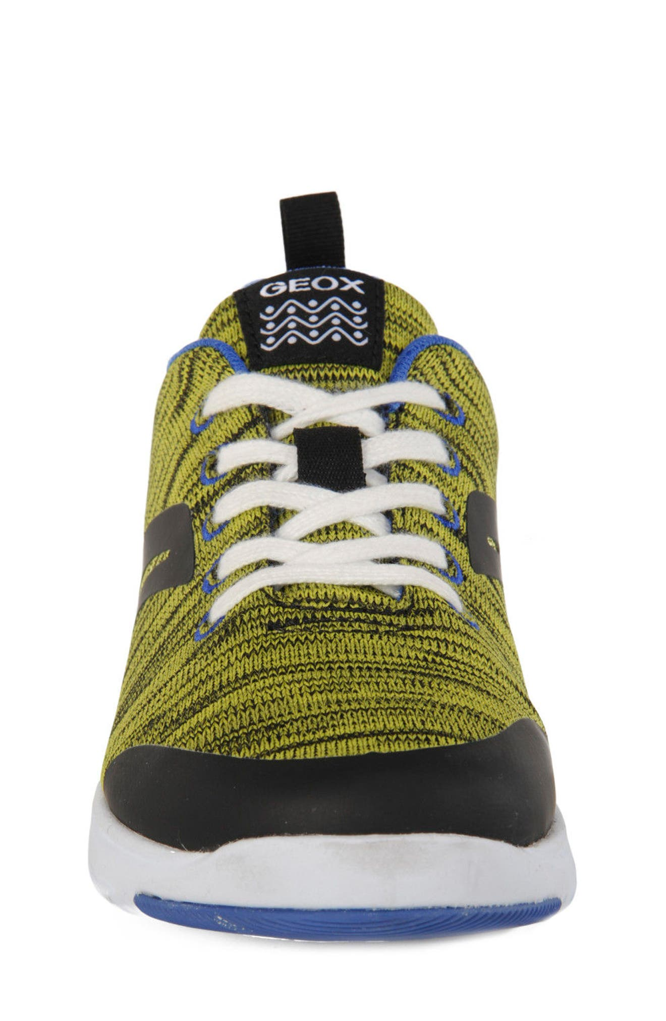 Xunday Performance Knit Low Top Sneaker,                             Alternate thumbnail 4, color,                             Lime