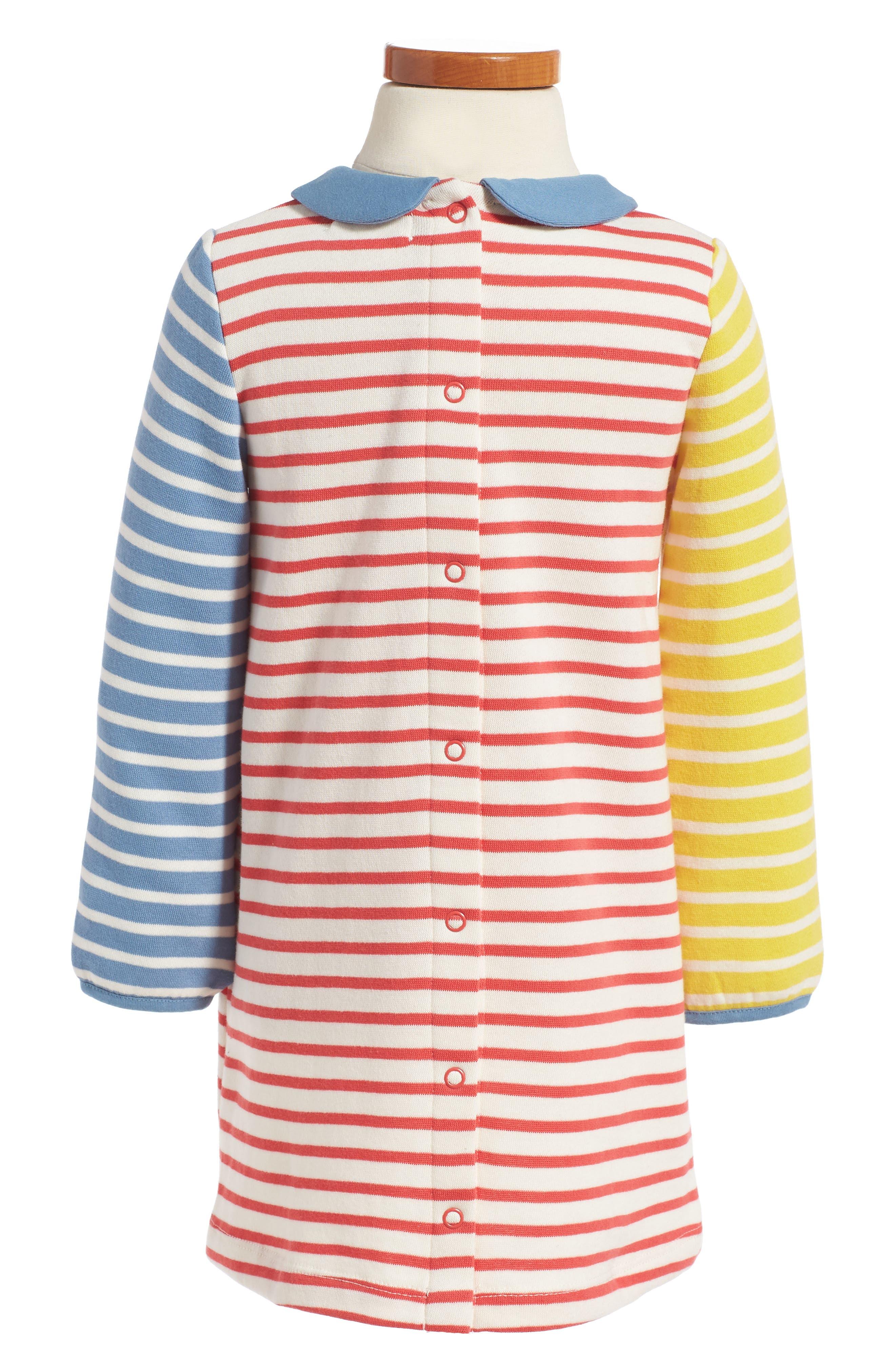 Alternate Image 2  - Mini Boden Cosy Peter Pan Collar Sweatshirt Dress (Baby Girls & Toddler Girls)