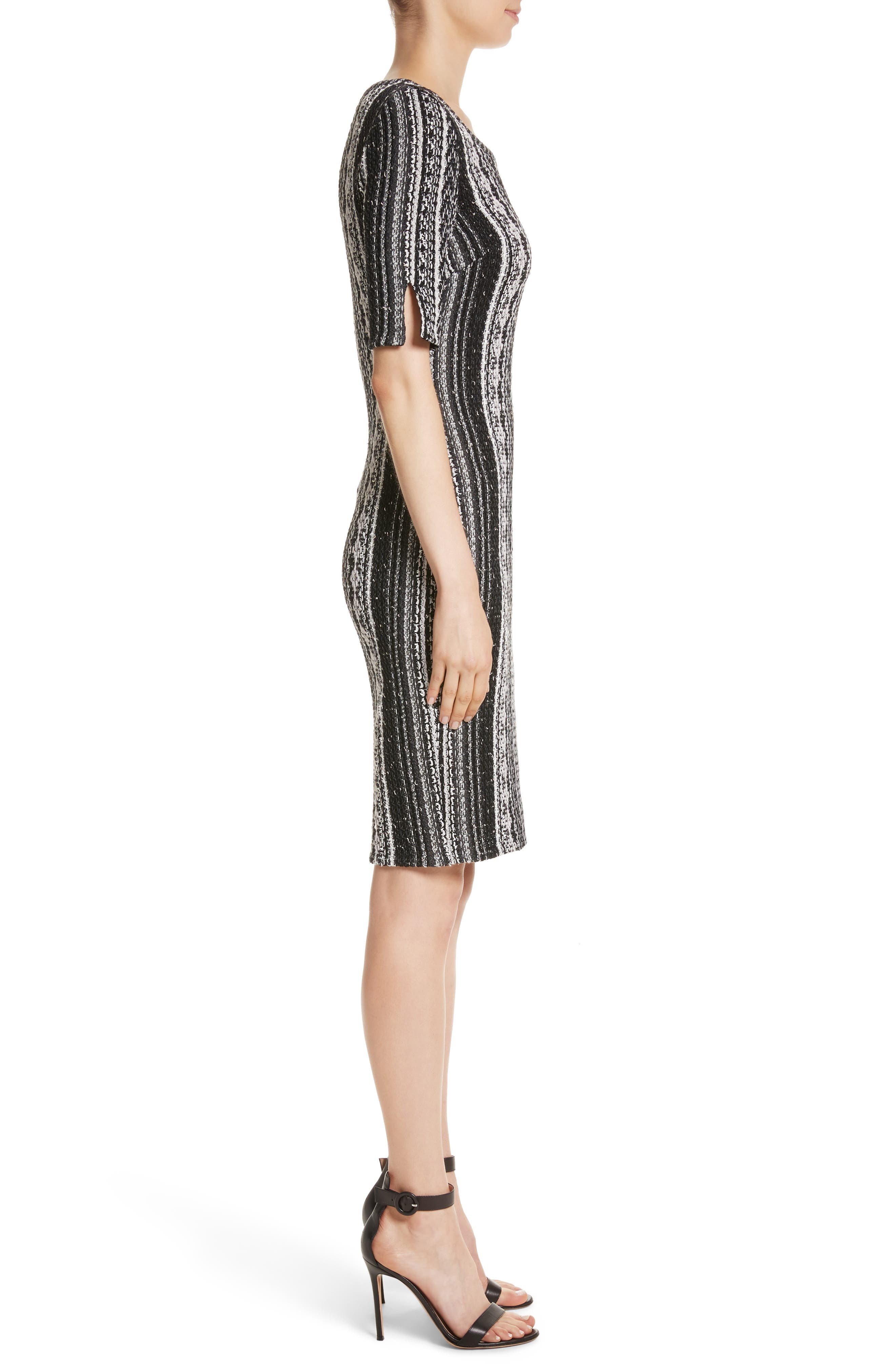 Alternate Image 3  - St. John Collection Ombré Stripe Tweed Knit Dress