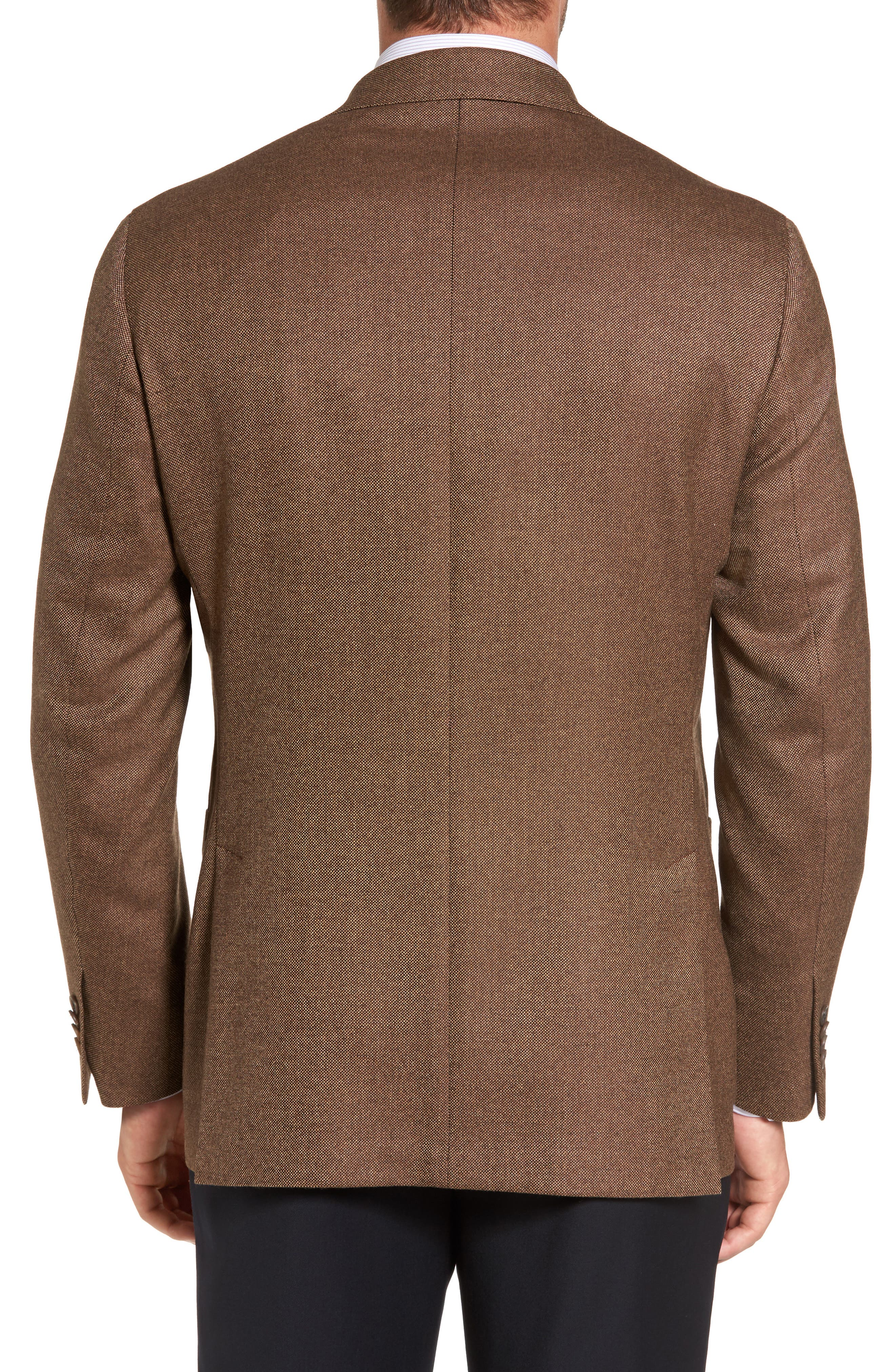 Aiden Classic Fit Wool Blazer,                             Alternate thumbnail 2, color,                             Light Brown