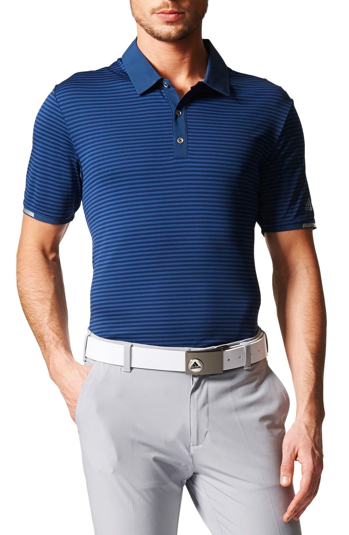 adidas climachill® Stripe Golf Polo