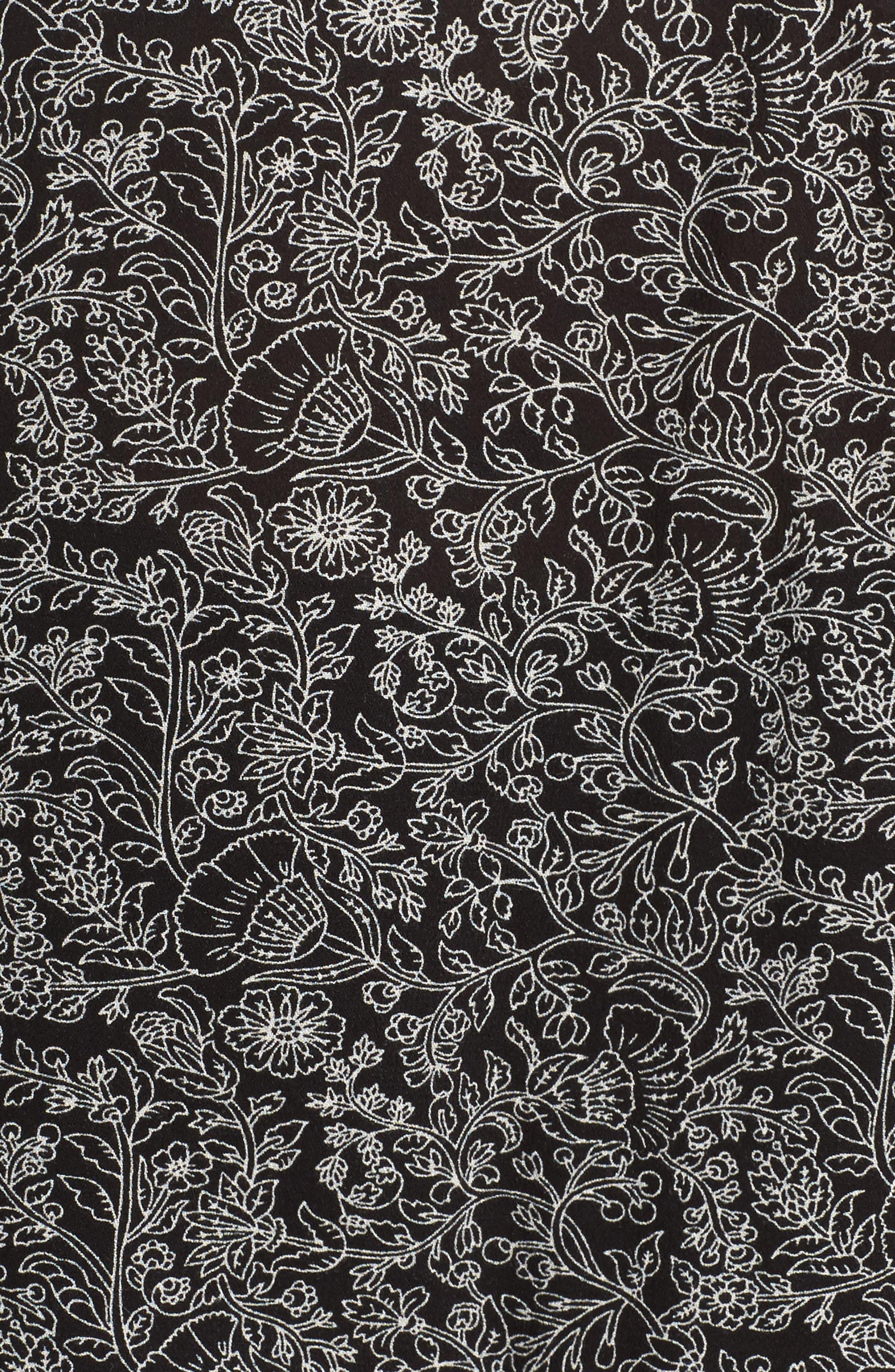 Alternate Image 5  - Daniel Rainn Floral Print Peasant Top (Plus Size)