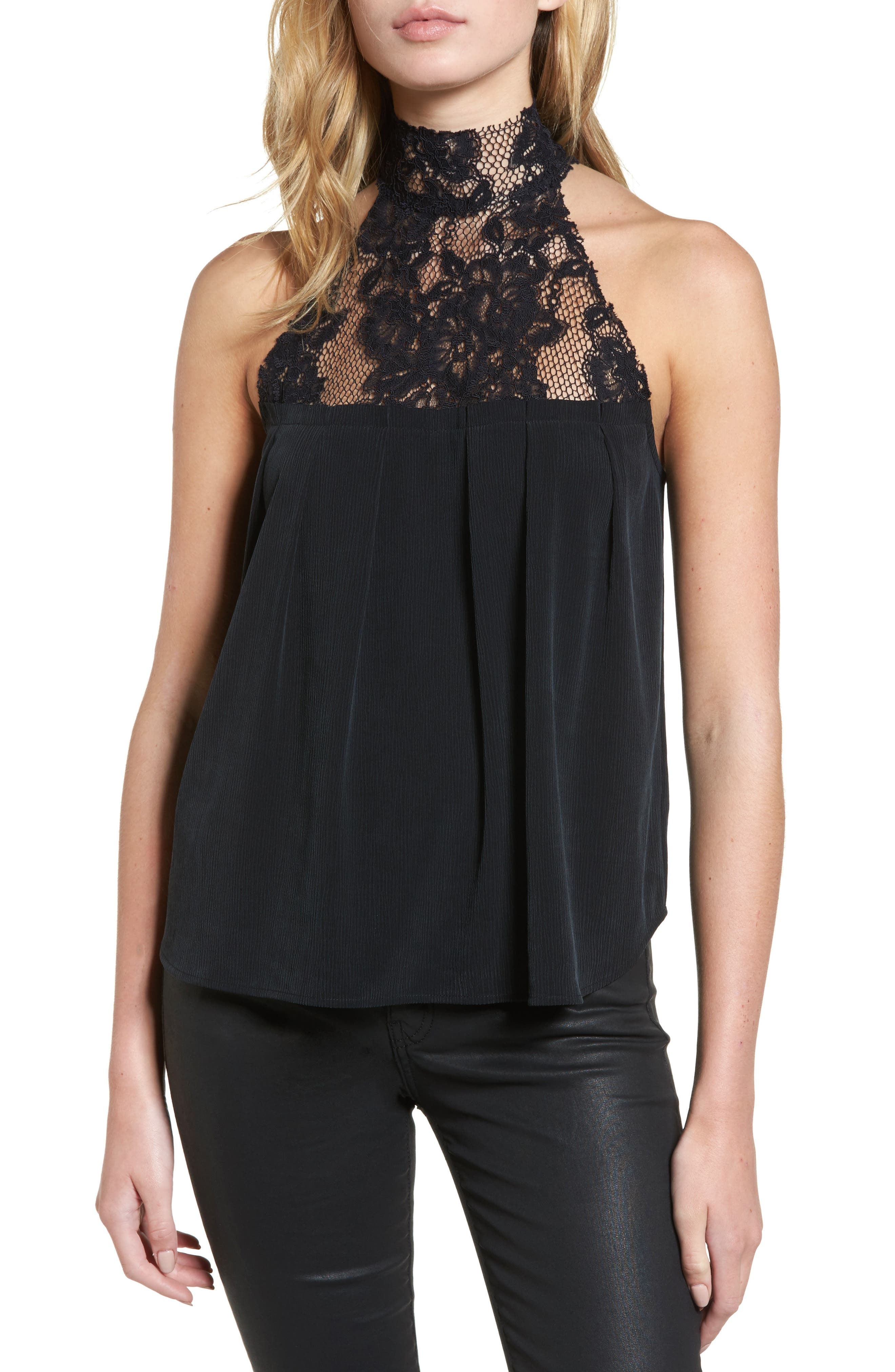 AG Lydia Lace Halter Top