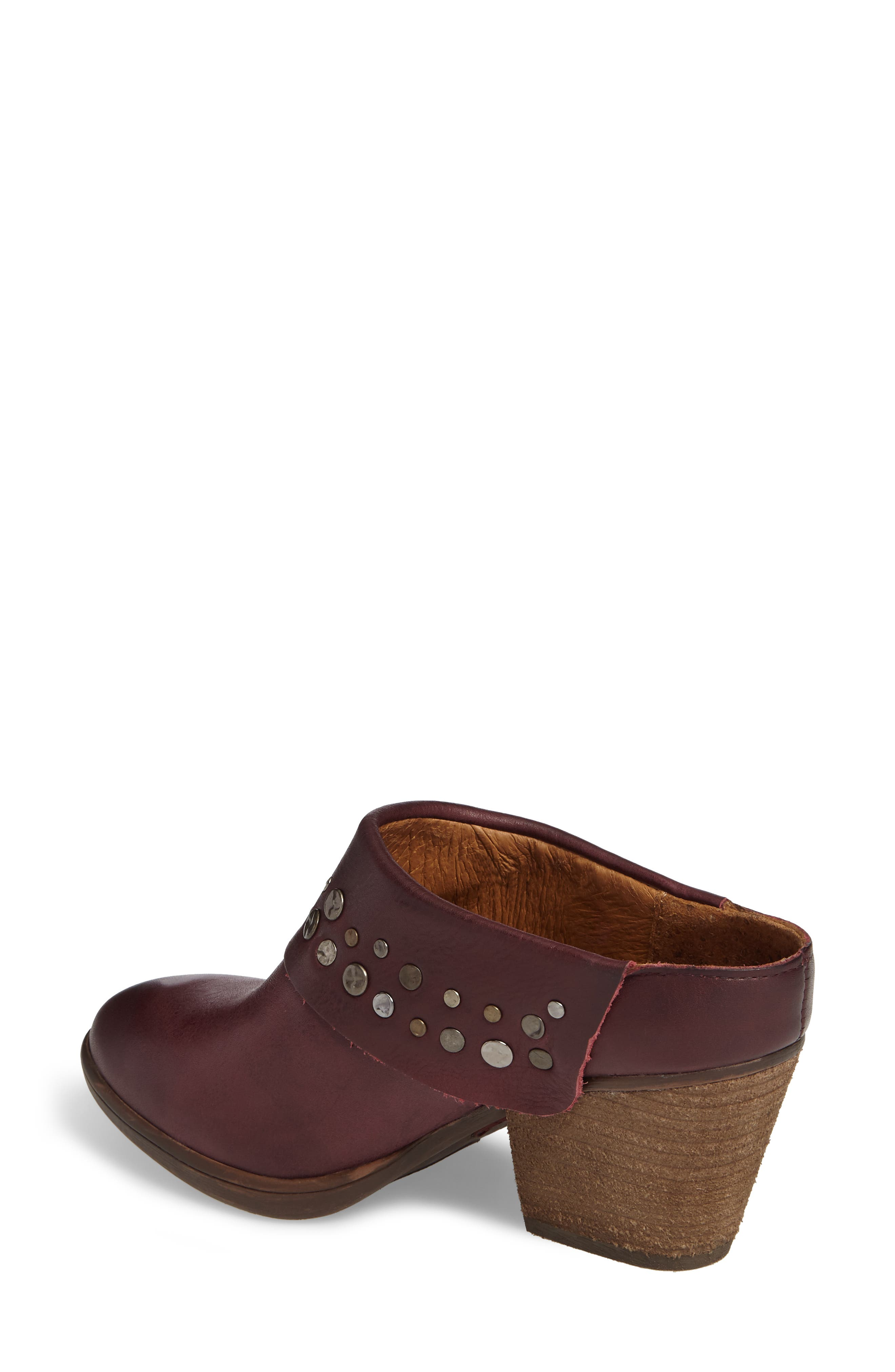 Gila Studded Mule,                             Alternate thumbnail 2, color,                             Marsala Red Leather