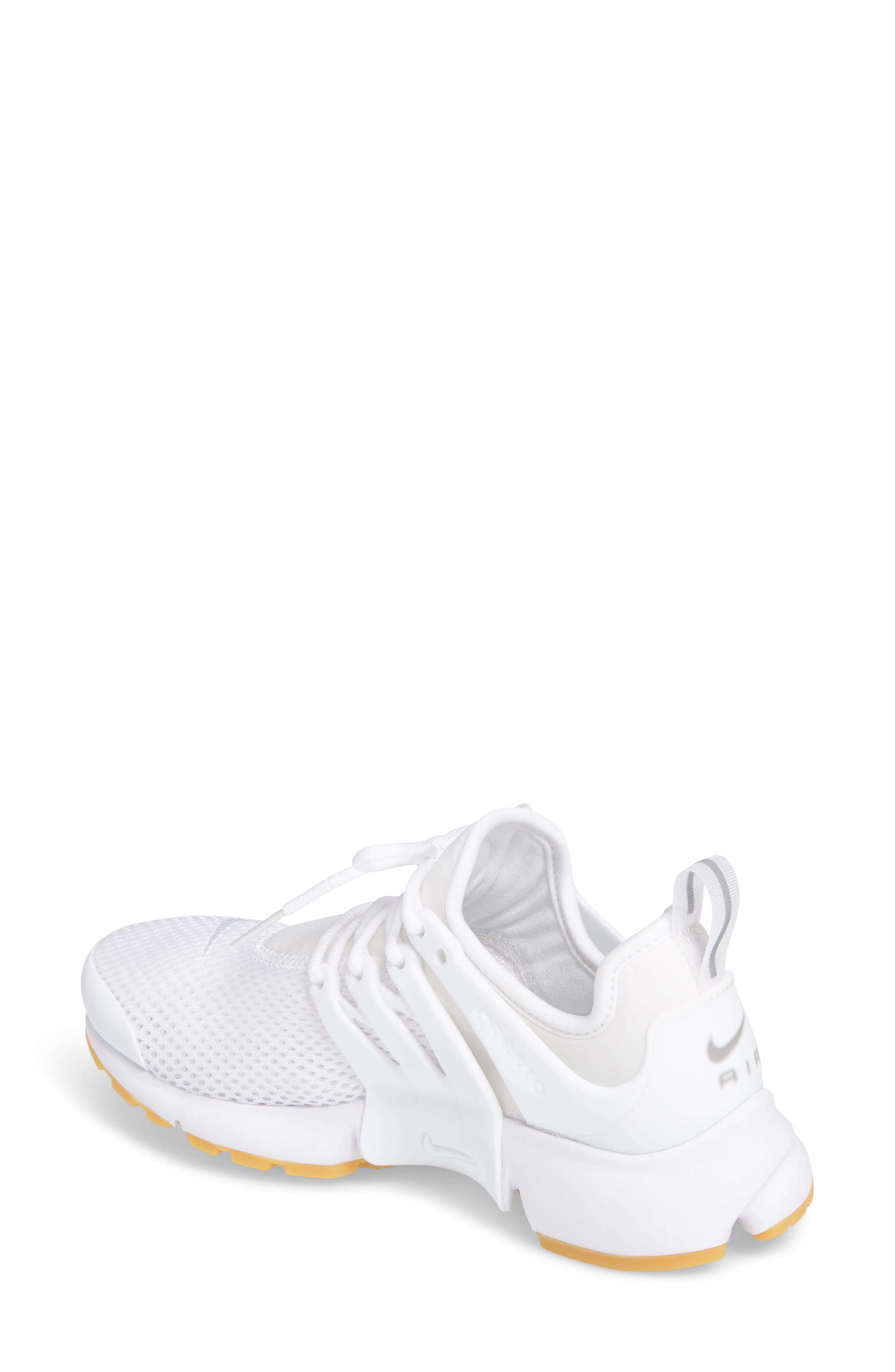 Air Presto Flyknit Ultra Sneaker,                             Alternate thumbnail 2, color,                             White/ Gum Yellow/ Wolf Grey