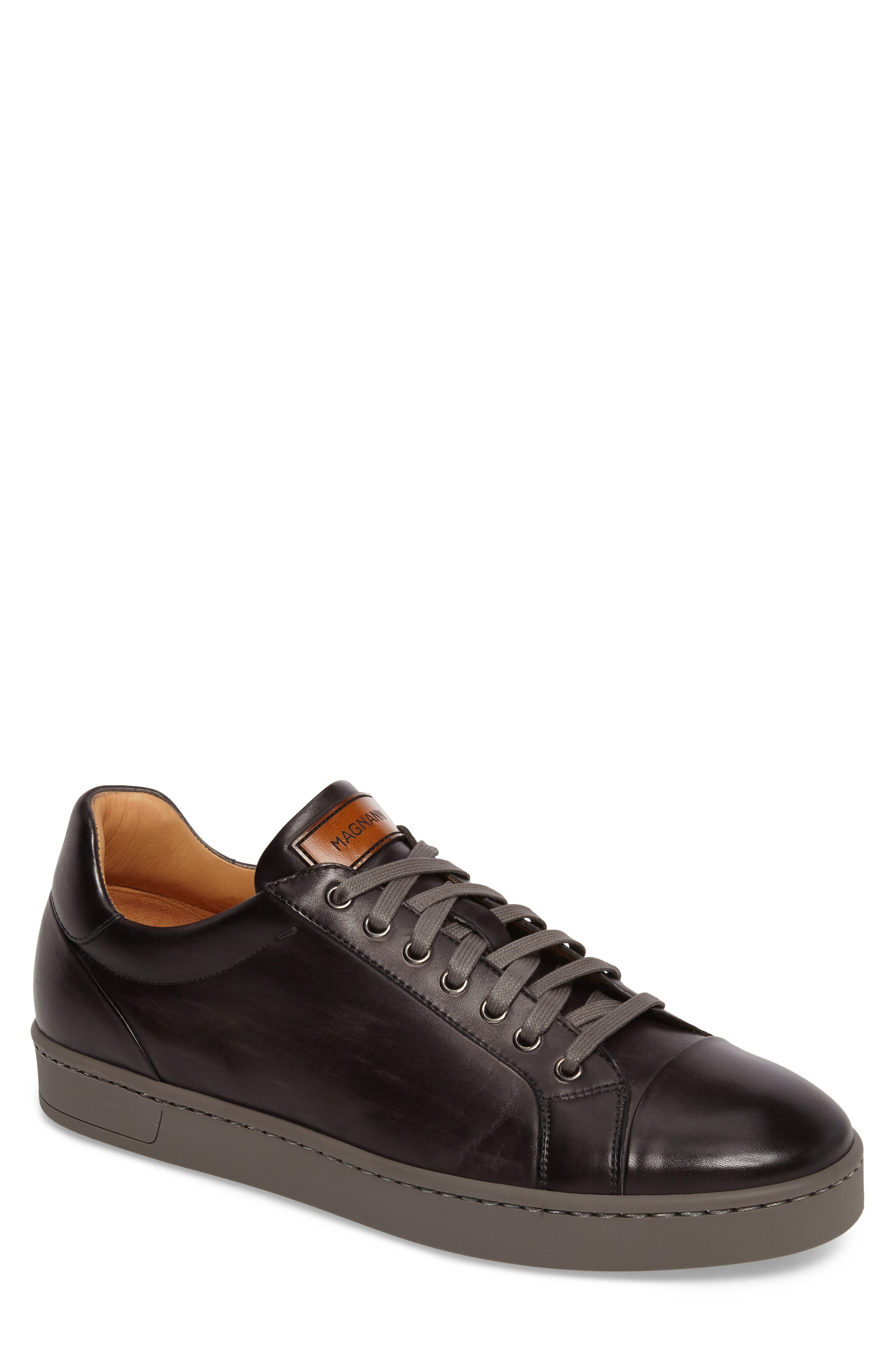 Caitin Sneaker,                         Main,                         color, Grey Leather