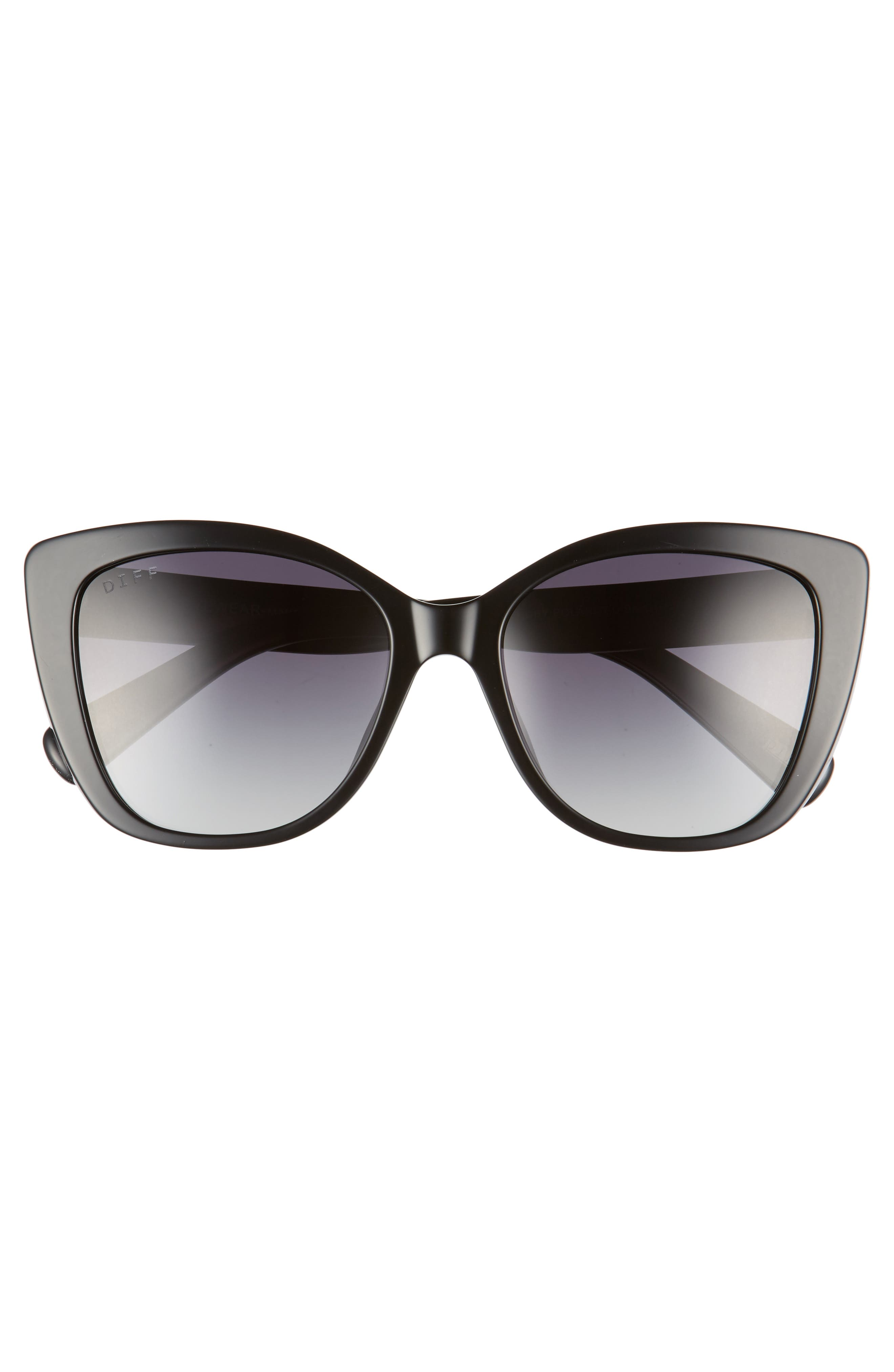 Ruby 54mm Polarized Sunglasses,                             Alternate thumbnail 3, color,                             Black/ Grey