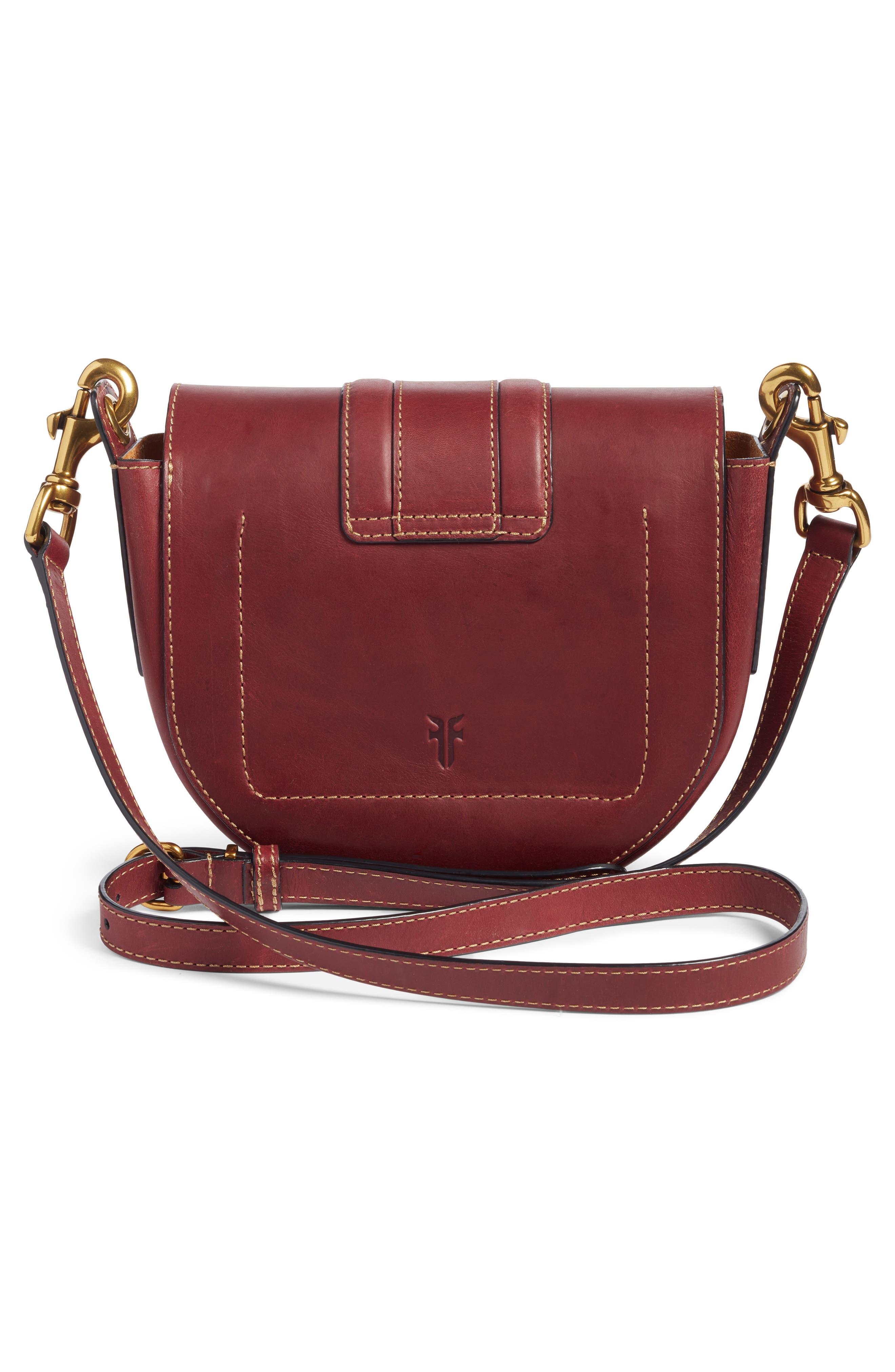 Alternate Image 4  - Frye Small Ilana Harness Leather Saddle Bag