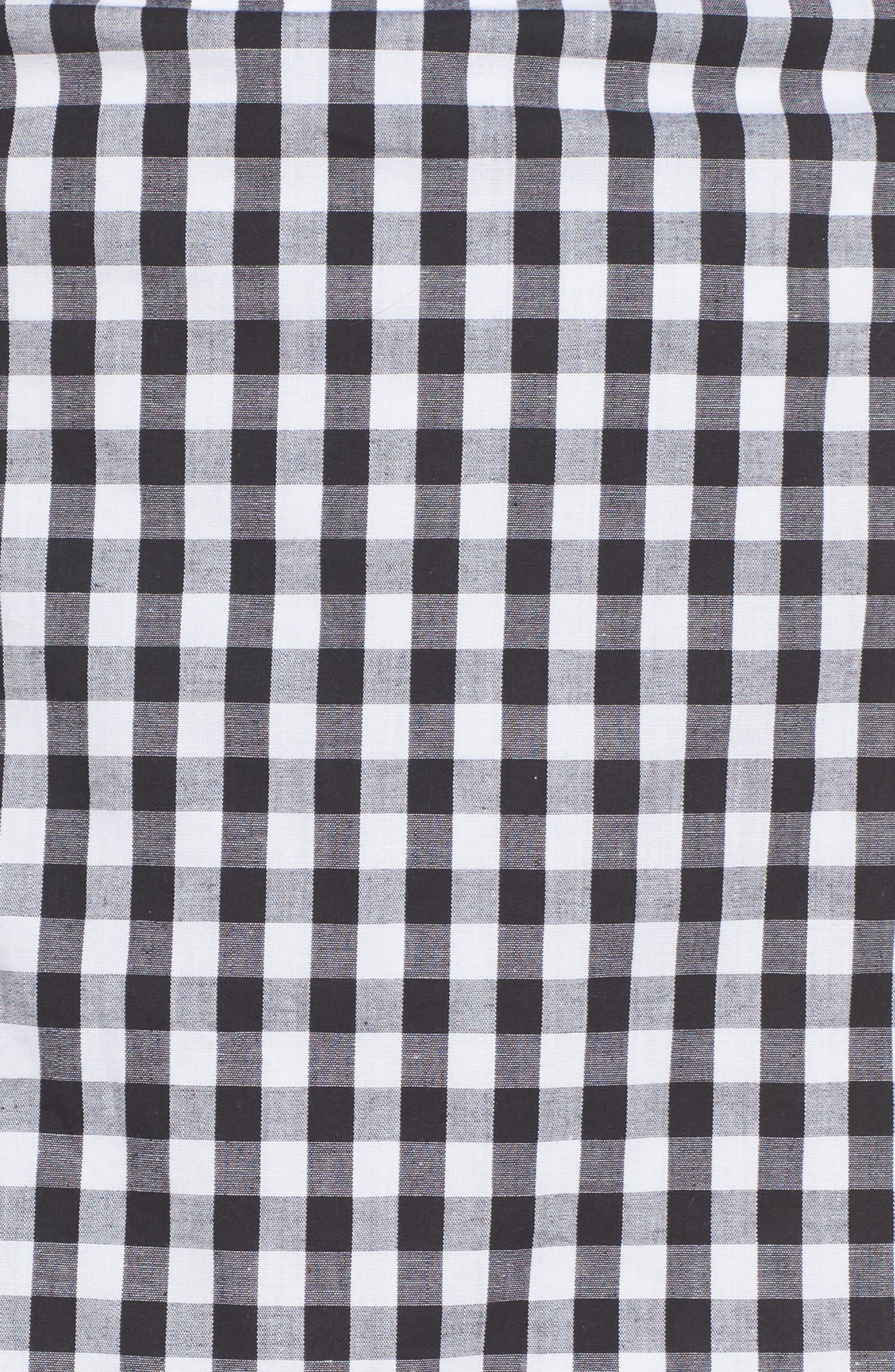 Cinci Wrap Skirt,                             Alternate thumbnail 4, color,                             Black/ White