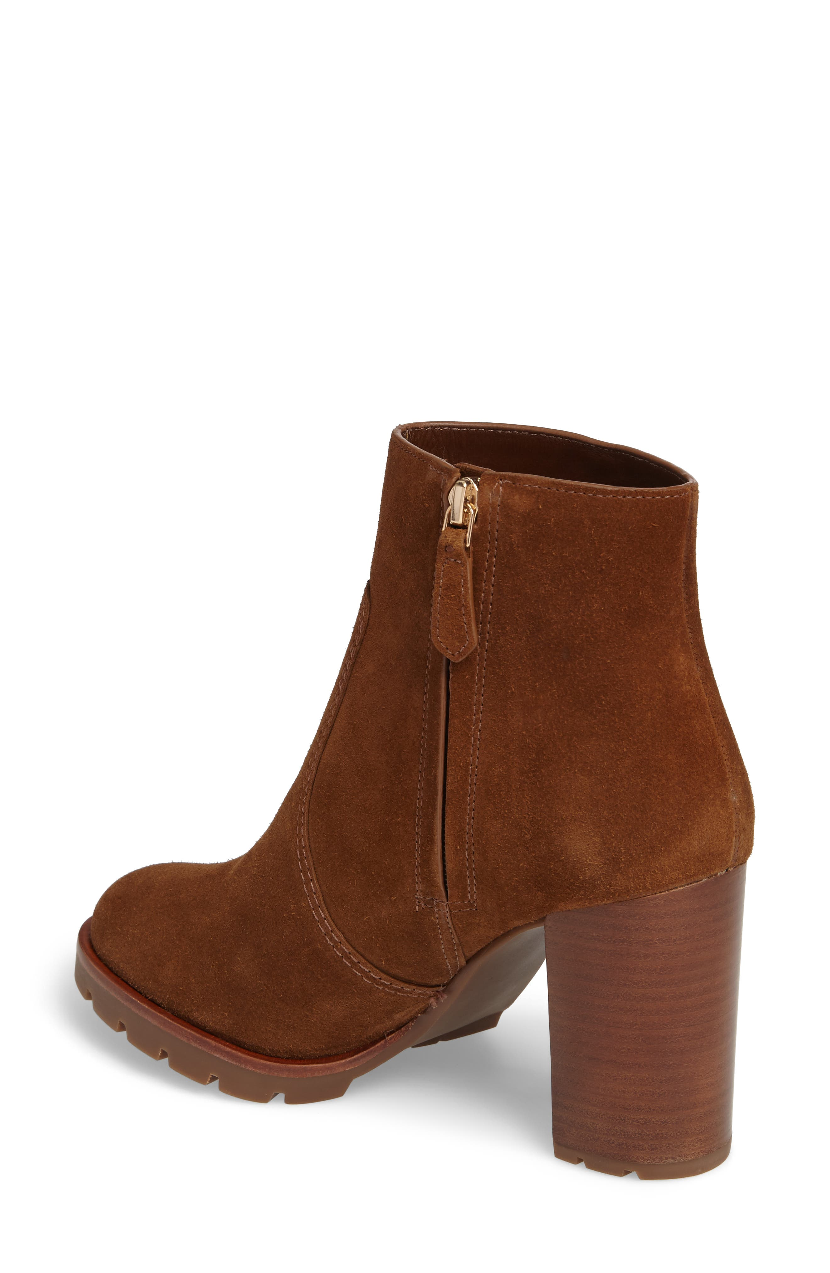 Sofia Lugged Logo Charm Bootie,                             Alternate thumbnail 3, color,                             Festival Brown