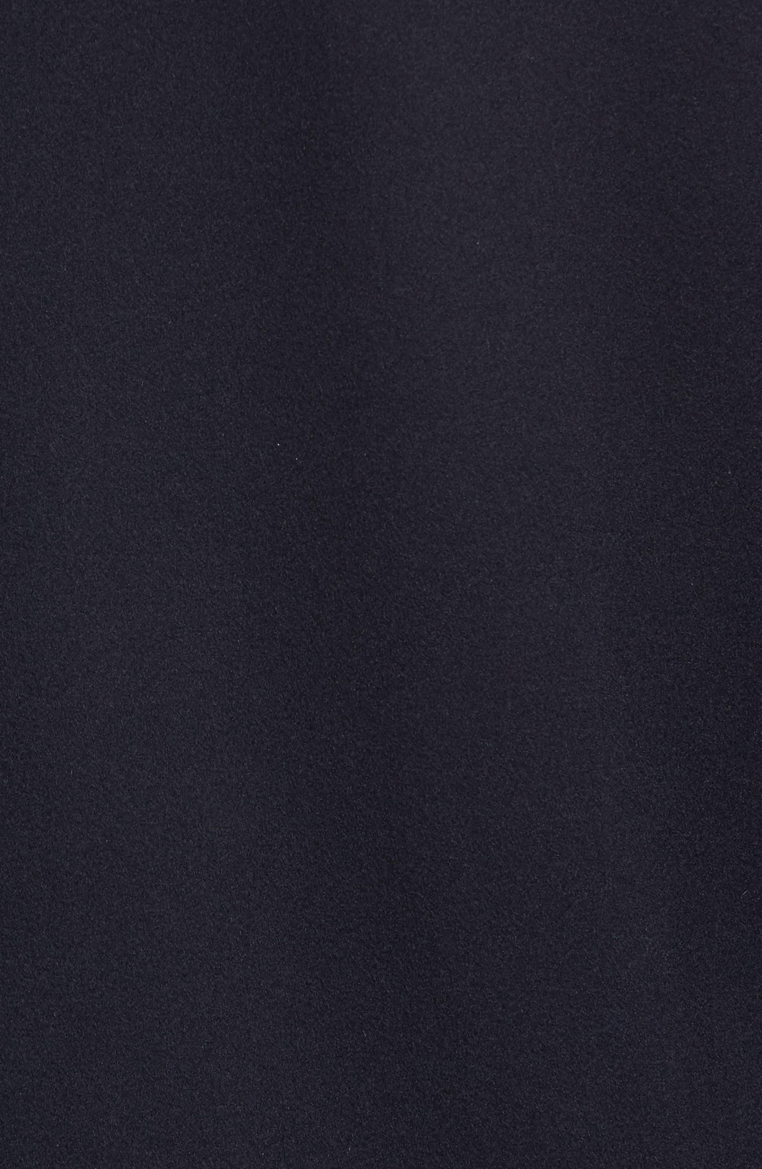 Peter Millar Horizon Wool Overcoat,                             Alternate thumbnail 5, color,                             Black