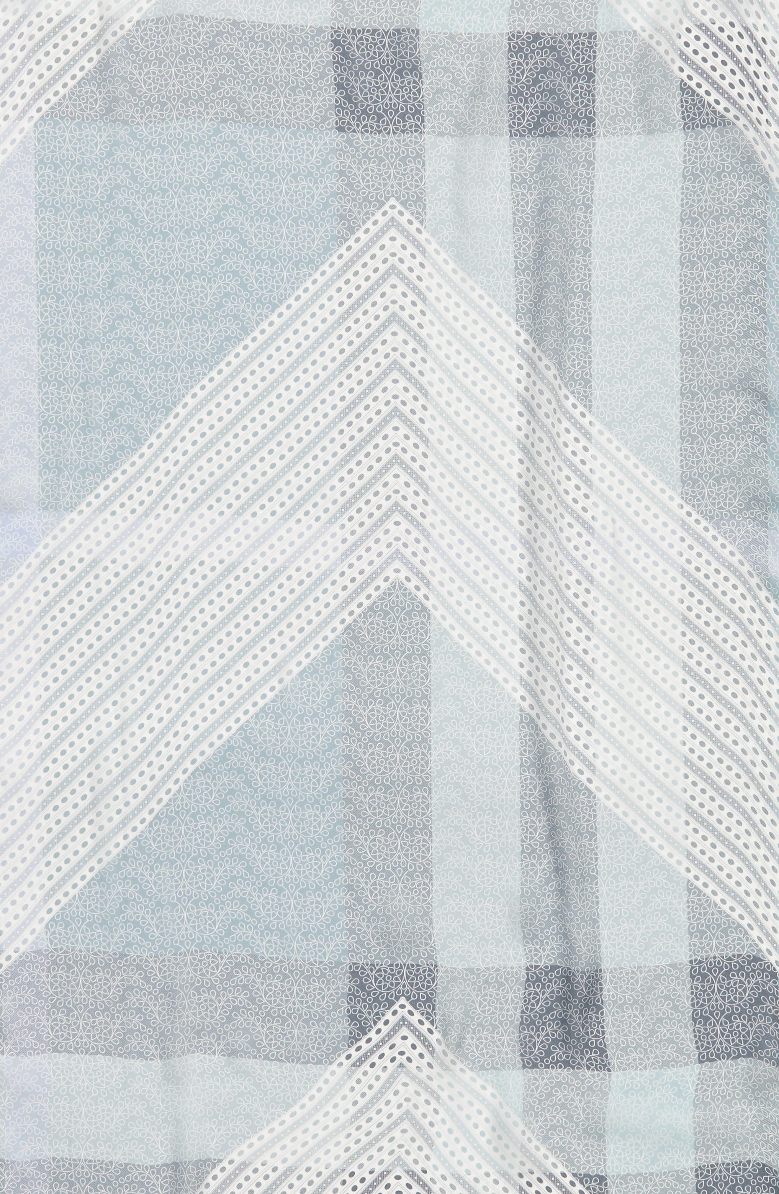 Ultra Mega Lace Silk Scarf,                             Alternate thumbnail 4, color,                             Slate Blue