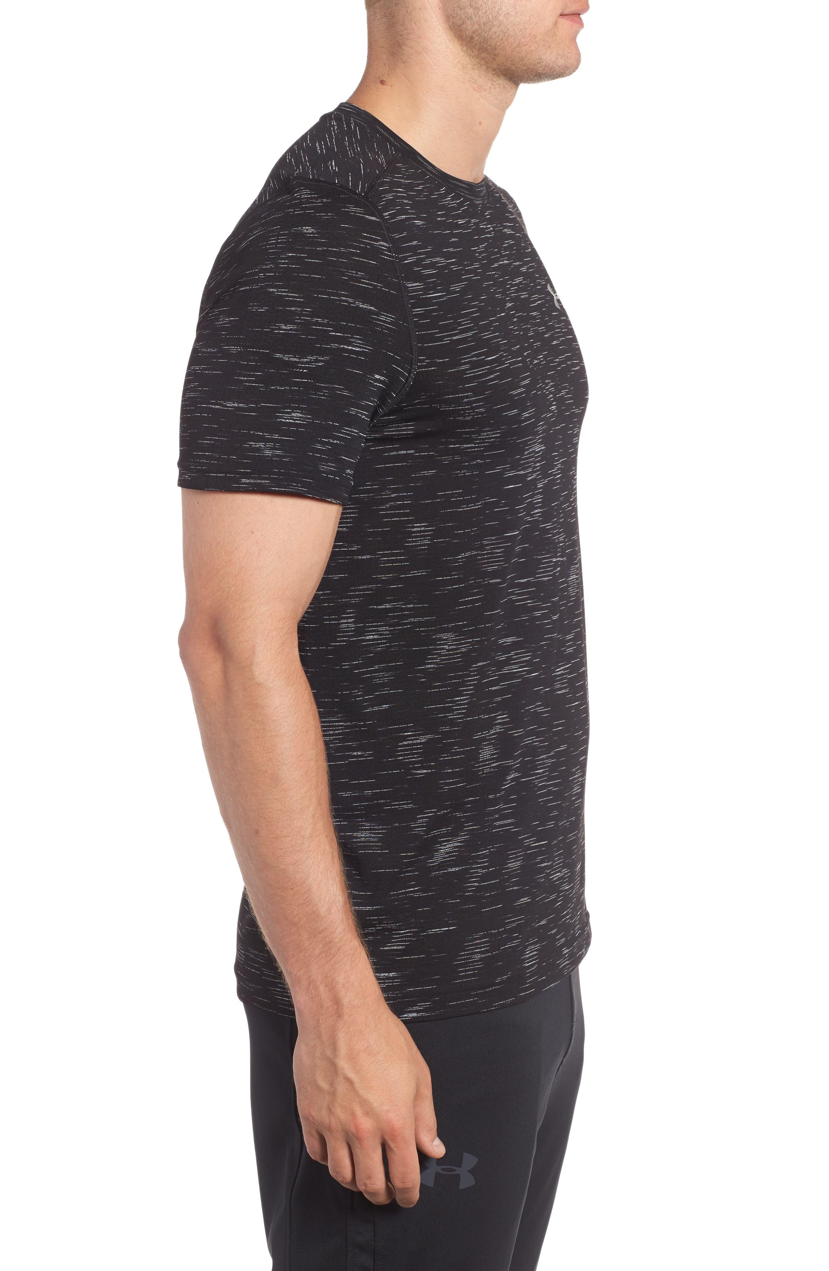 Threadborne Regular Fit T-Shirt,                             Alternate thumbnail 3, color,                             Black / Graphite
