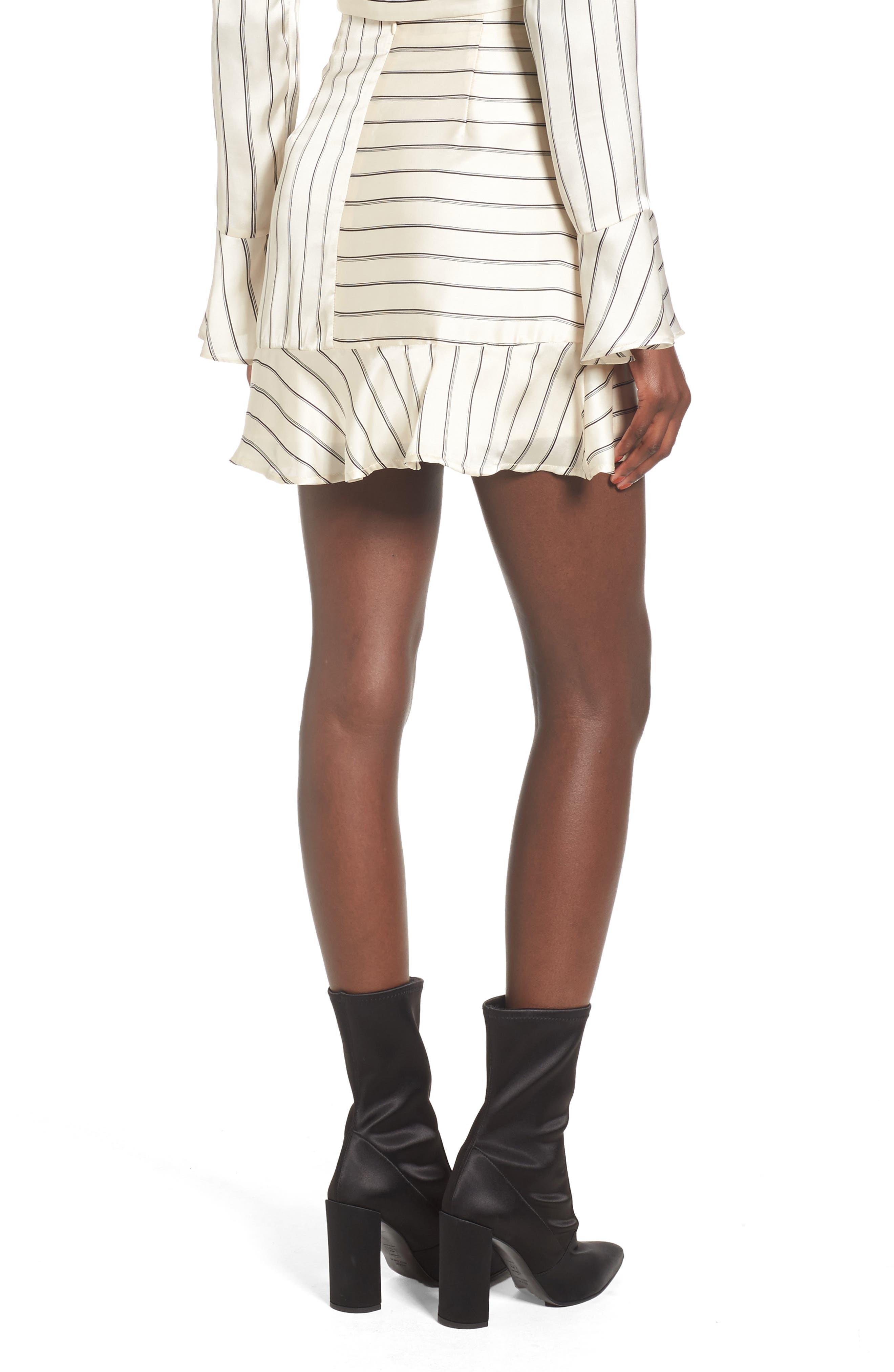 Alternate Image 2  - J.O.A. Ruffle Pinstripe Skirt