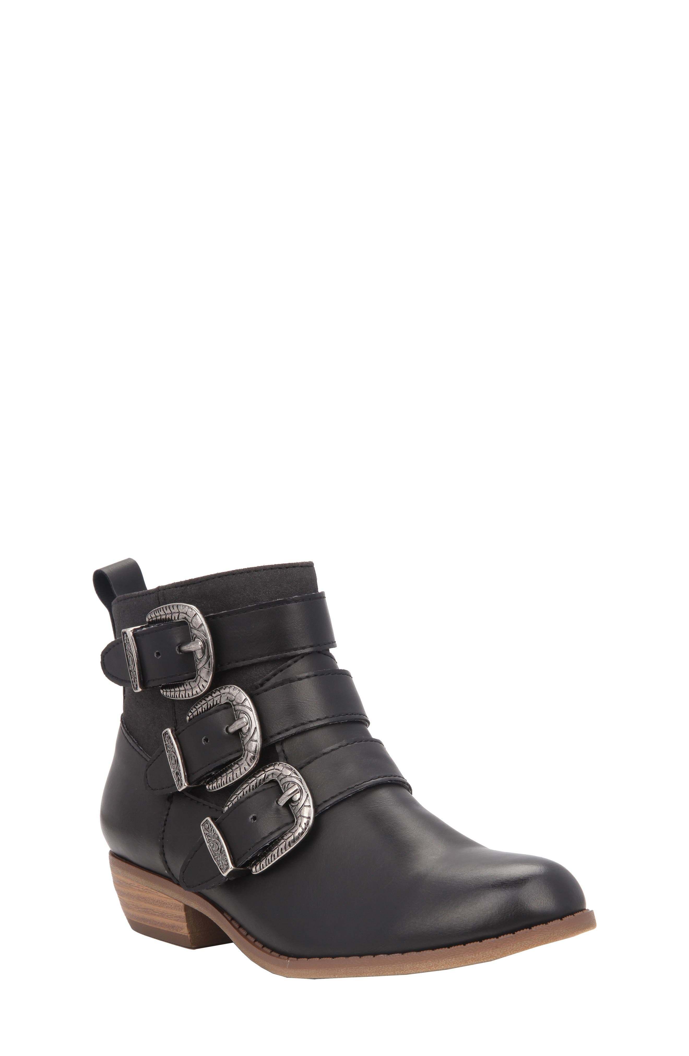 Main Image - Nina Carolina Buckle Strap Bootie (Toddler, Little Kid & Big Kid)