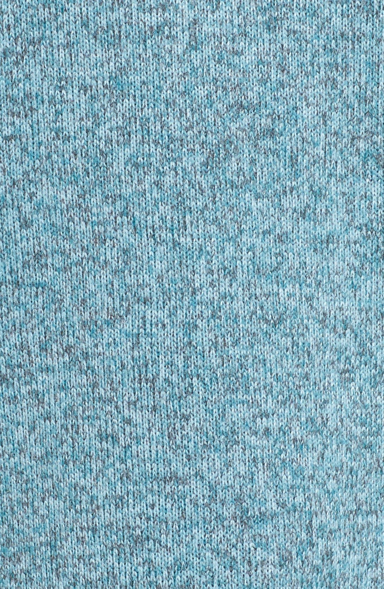 'Better Sweater' Zip Pullover,                             Alternate thumbnail 6, color,                             Tubular Blue W/ Crevasse Blue