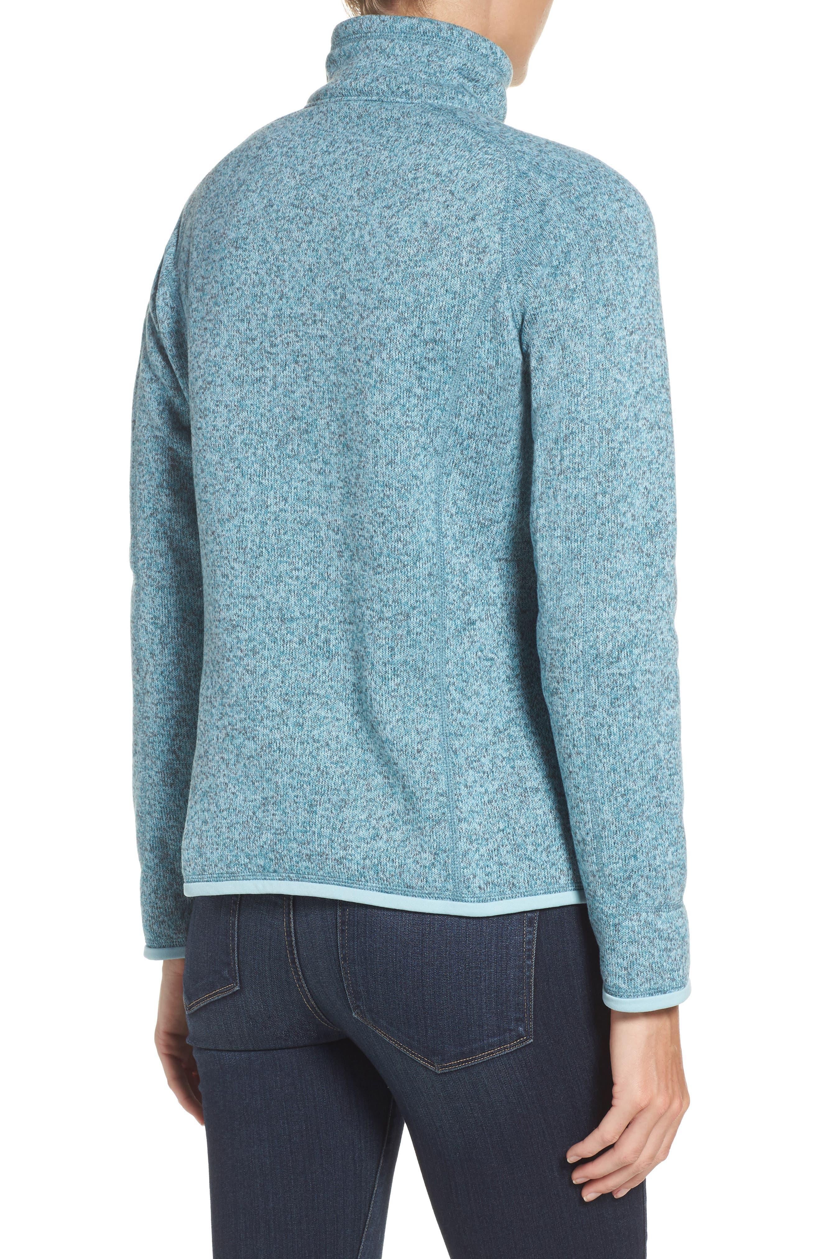 'Better Sweater' Zip Pullover,                             Alternate thumbnail 2, color,                             Tubular Blue W/ Crevasse Blue