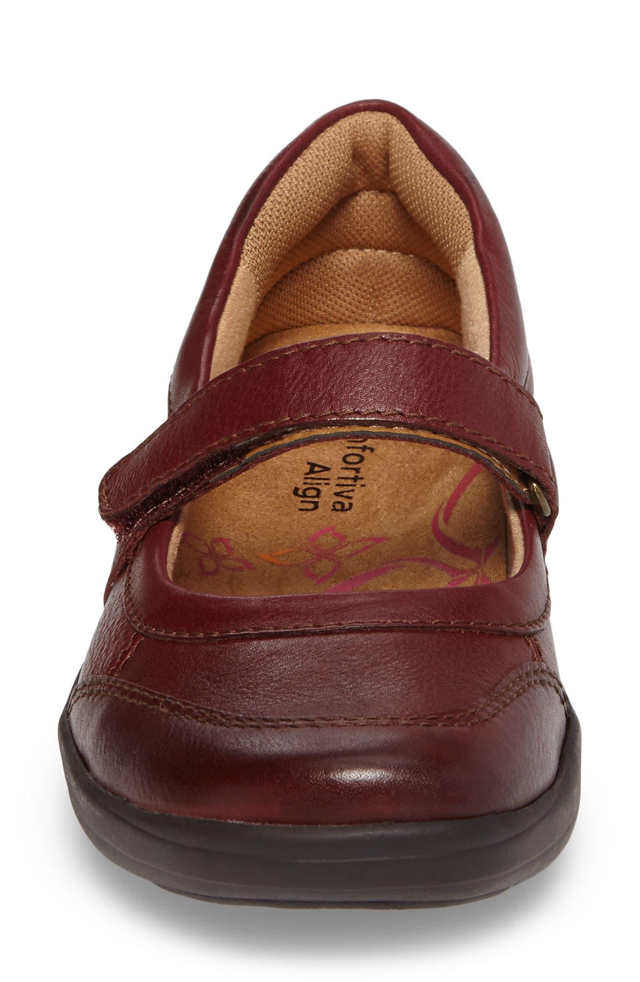 Roma Mary Jane Flat,                             Alternate thumbnail 4, color,                             Burgundy Leather