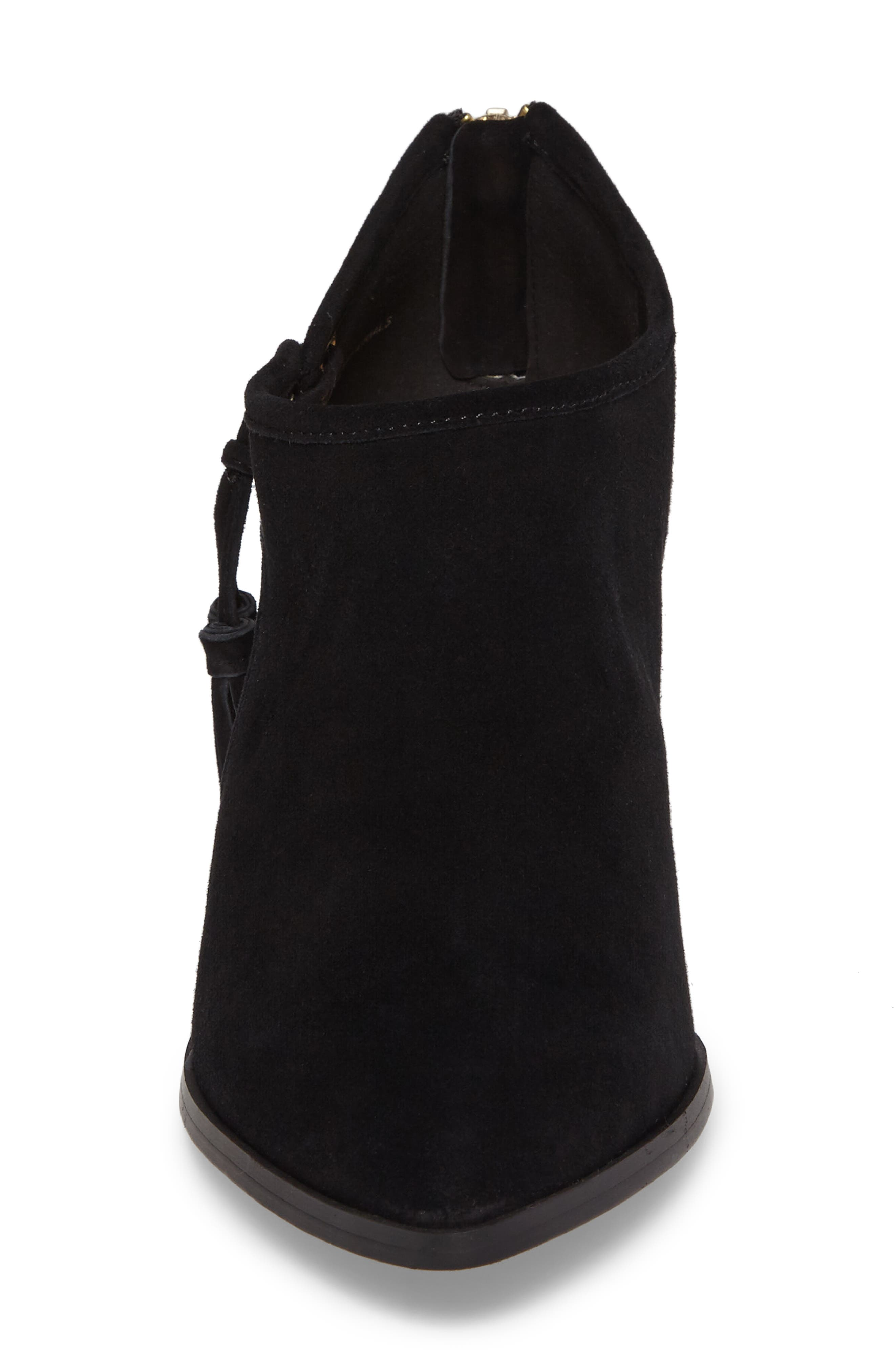 Eli Cutout Bootie,                             Alternate thumbnail 4, color,                             Black Suede